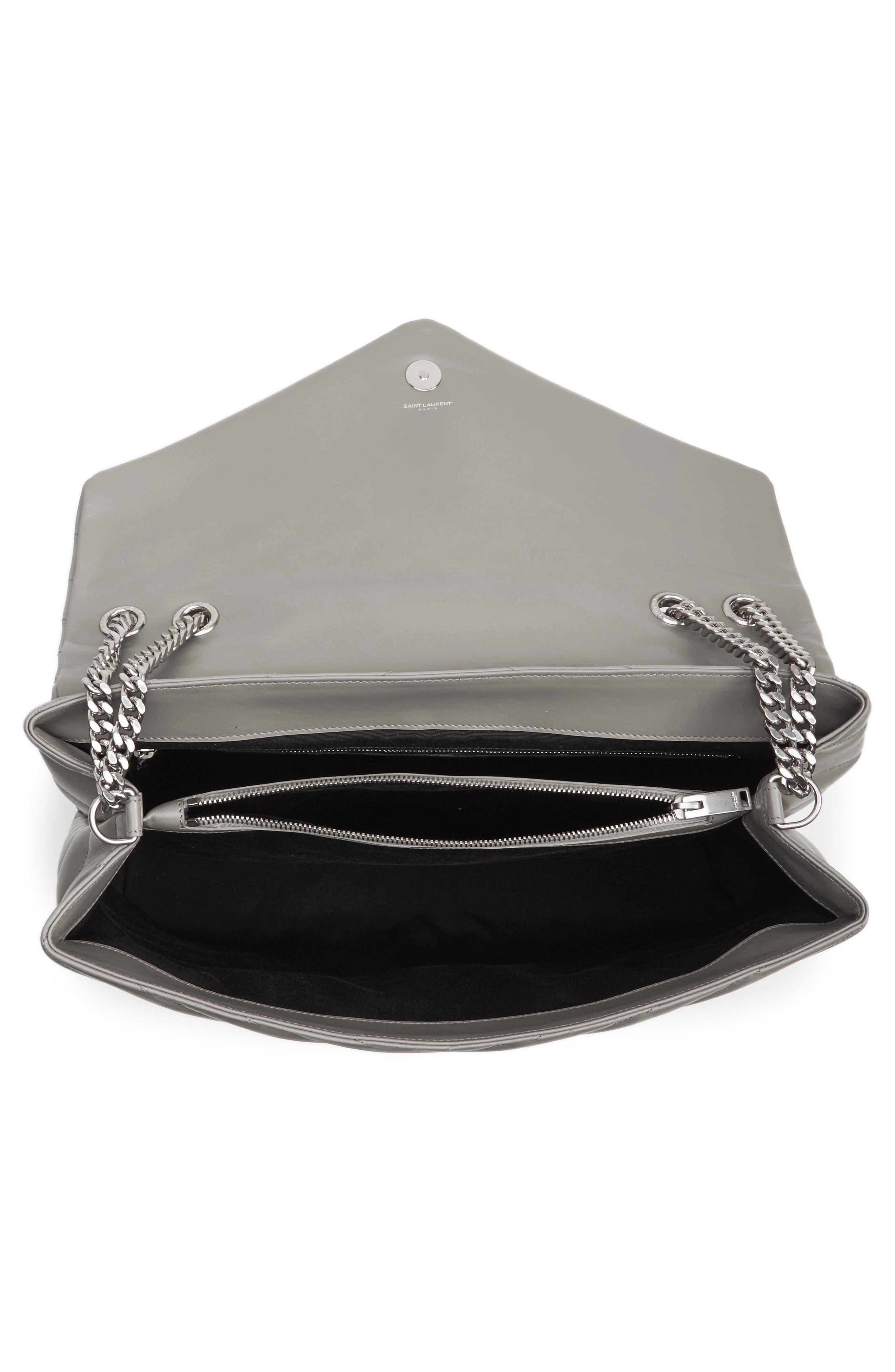 Alternate Image 4  - Saint Laurent Monogram Quilted Leather Slouchy Shoulder Bag