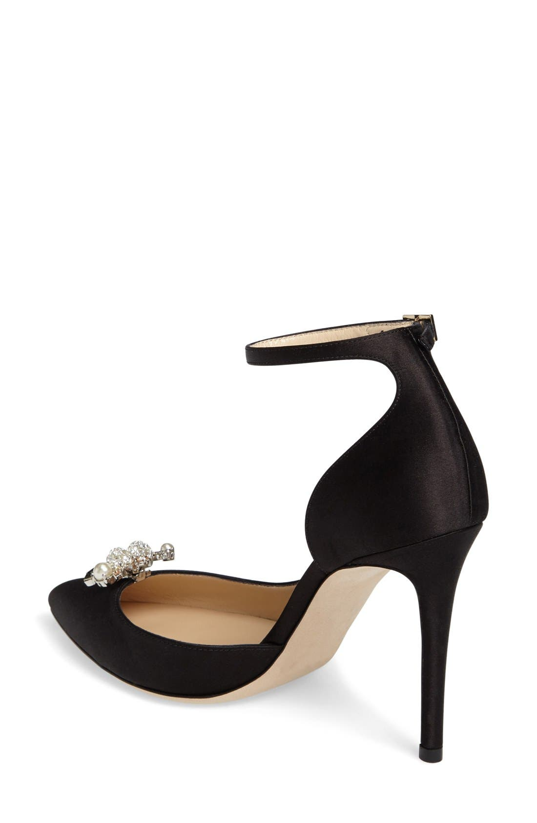 Alternate Image 2  - Jimmy Choo Rose d'Orsay Pump with Jeweled Clip (Women)