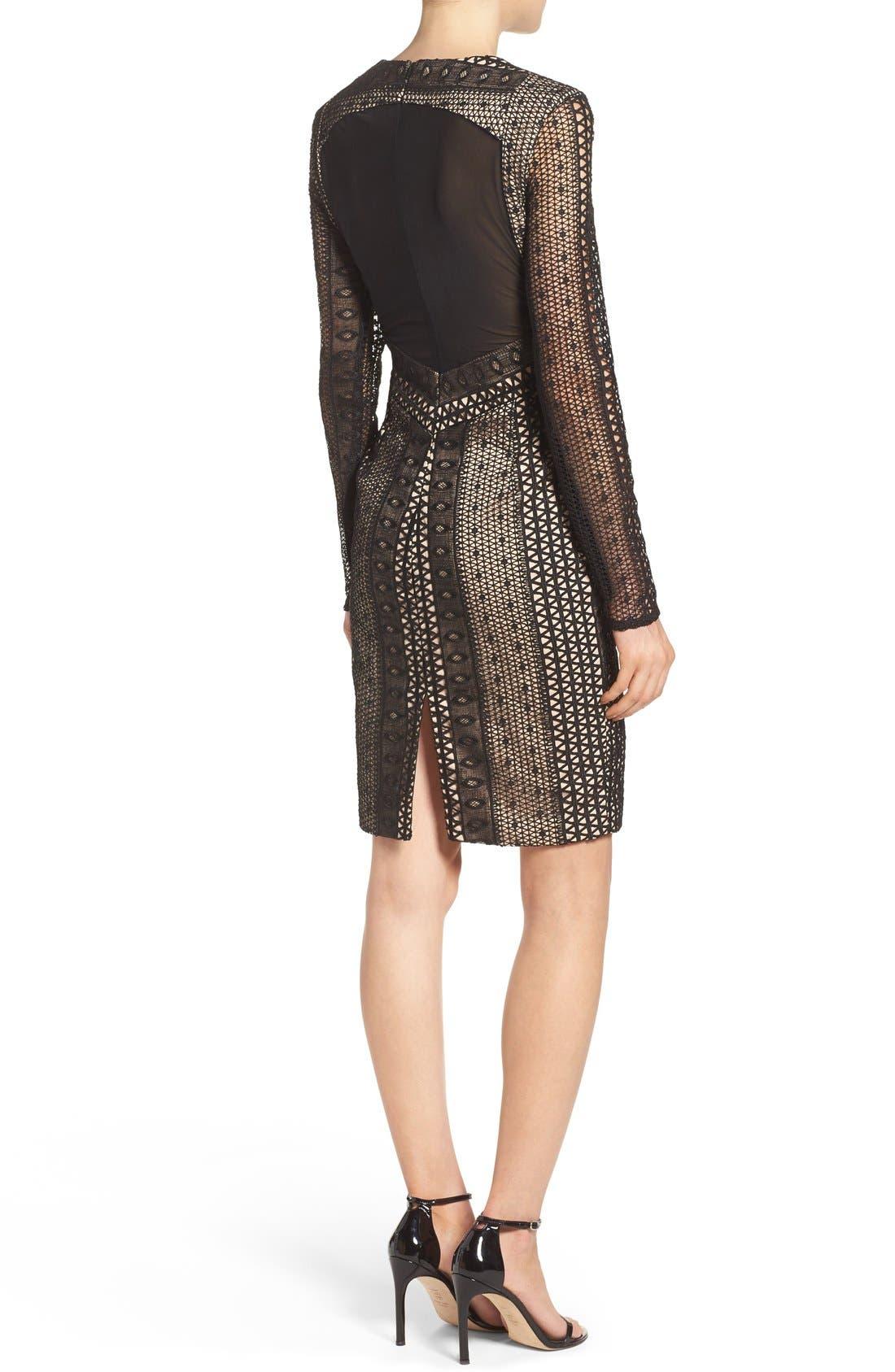 Alternate Image 2  - Bardot Allegra Lace Sheath Dress