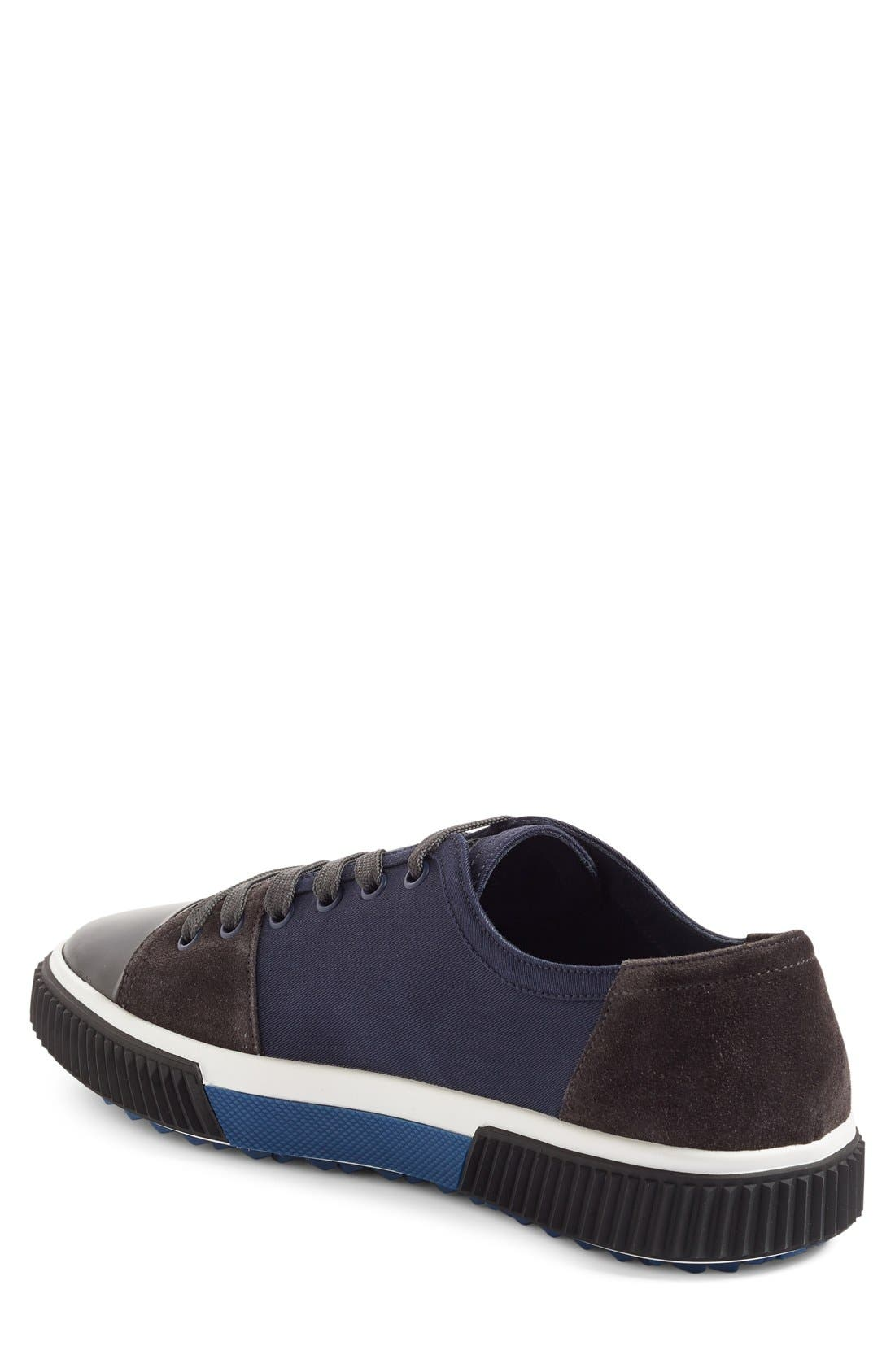 Linea Rossa Sneaker,                             Alternate thumbnail 2, color,                             Blue Fabric