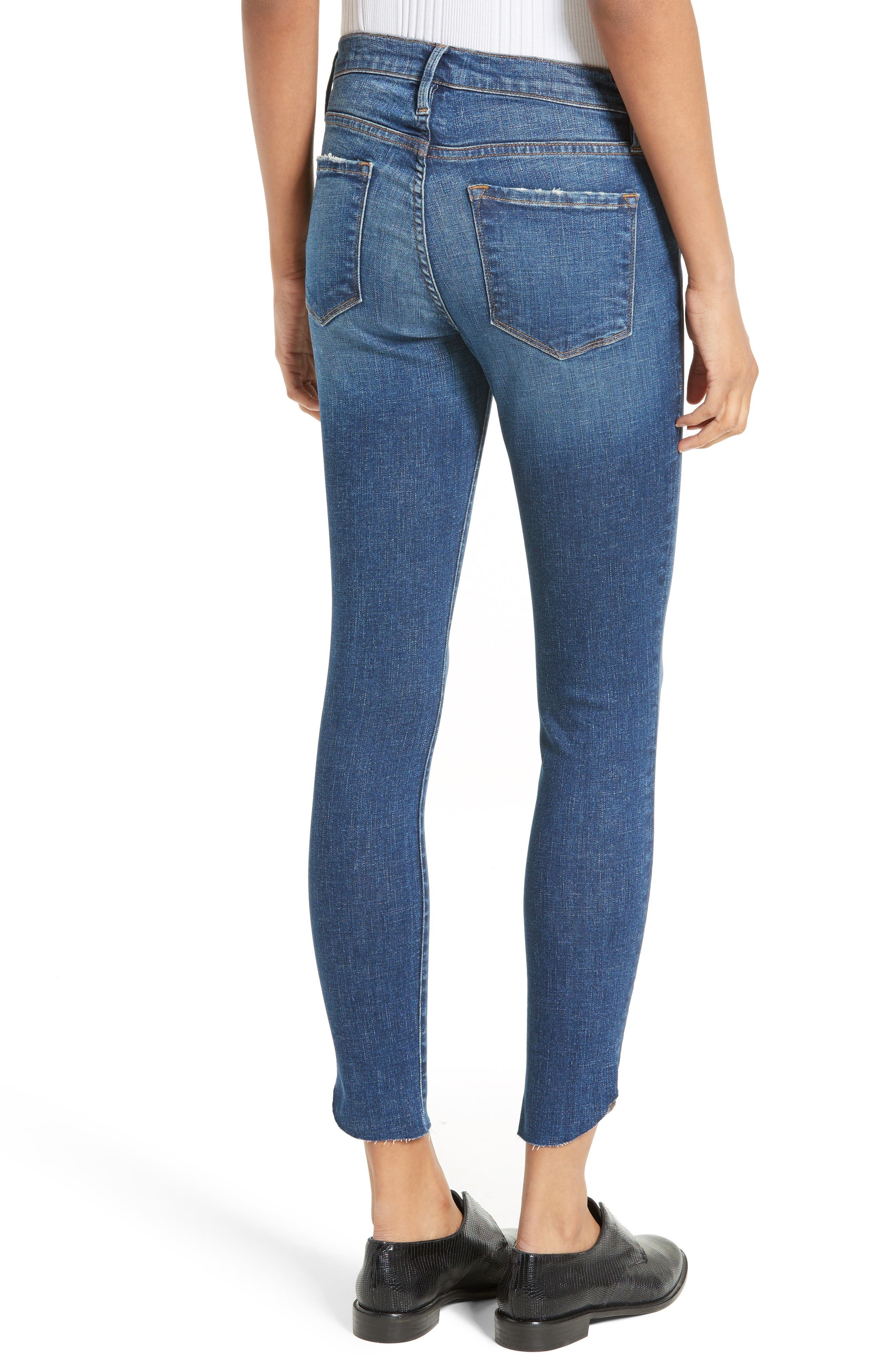 Alternate Image 2  - FRAME Le Skinny Raw Tulip Crop Jeans (York) (Nordstrom Exclusive)