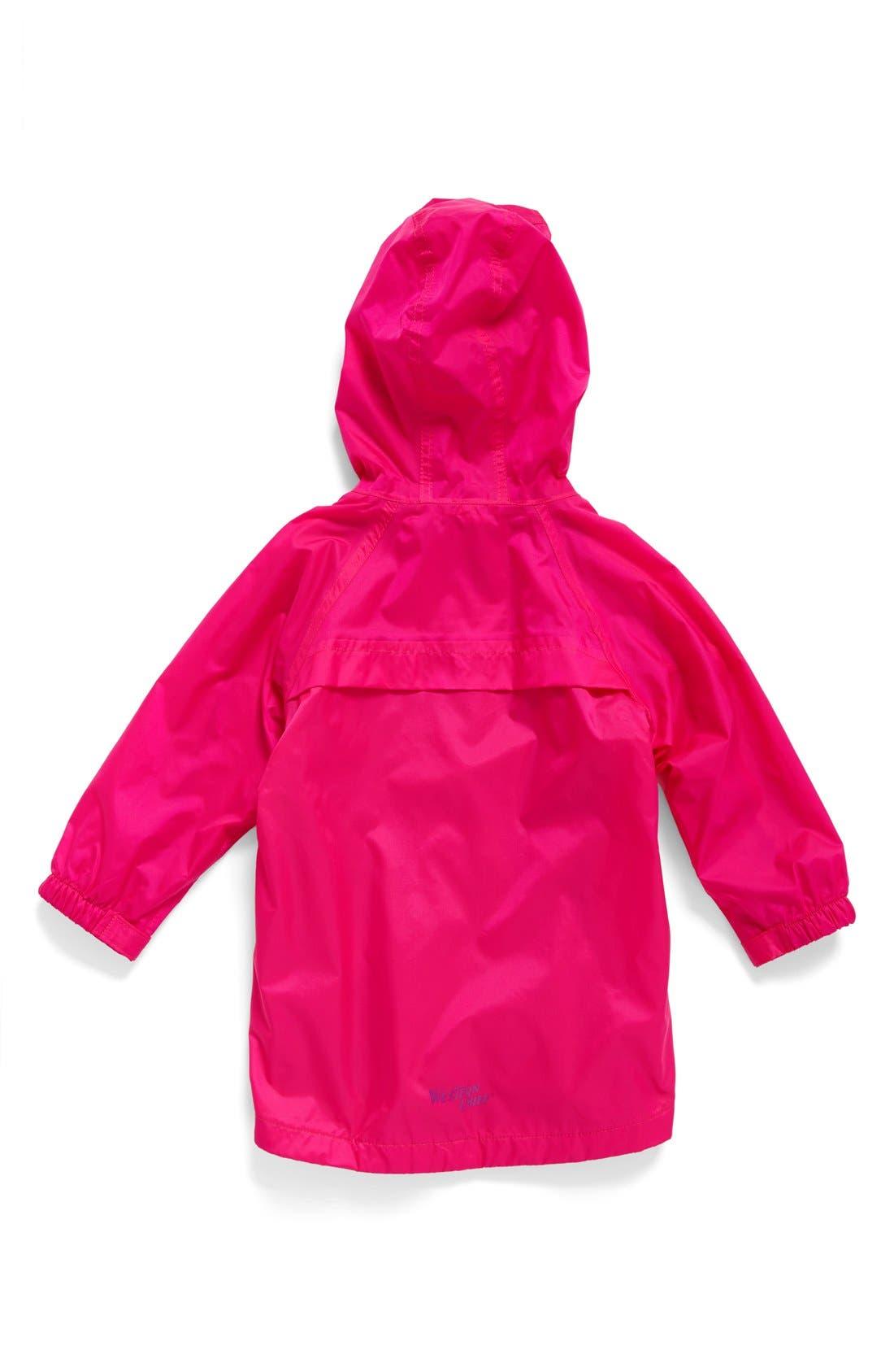 Alternate Image 2  - Western Chief Hooded Raincoat (Toddler Girls & Little Girls)