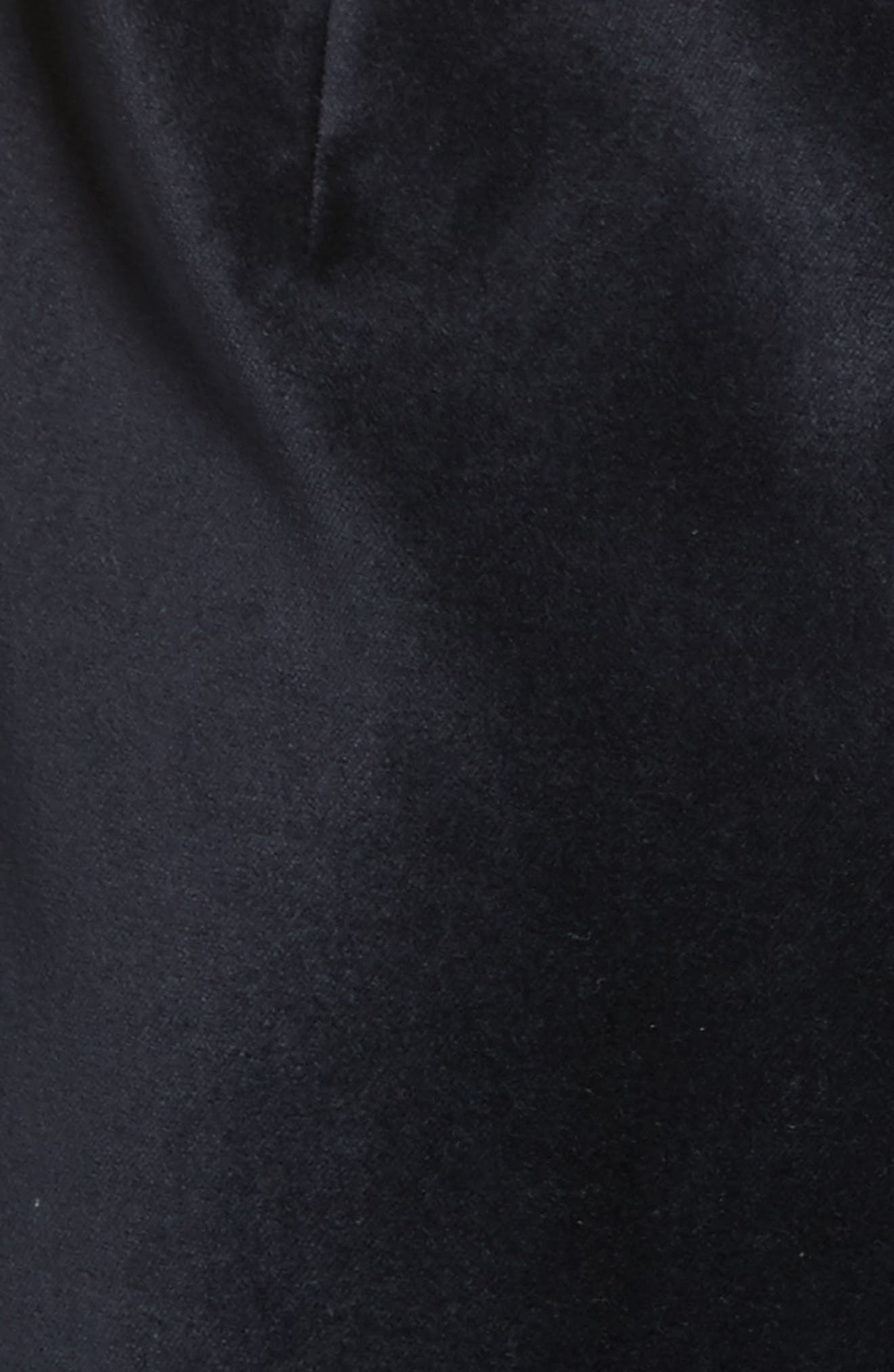 Cheryll Embellished Collar Velvet Dress,                             Alternate thumbnail 5, color,                             Blue