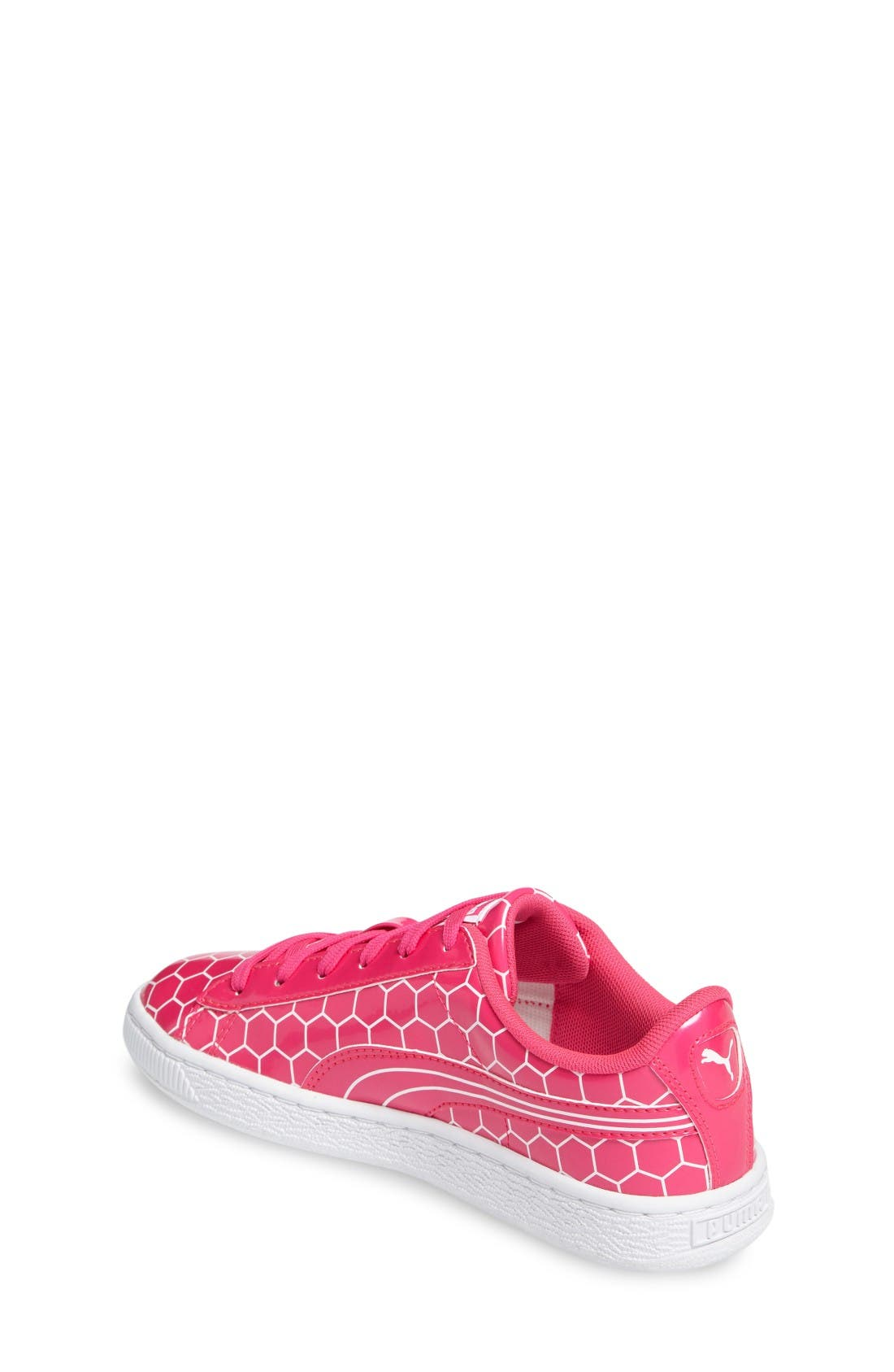 Basket Classic Ano Sneaker,                             Alternate thumbnail 2, color,                             Pink Glo-Puma White