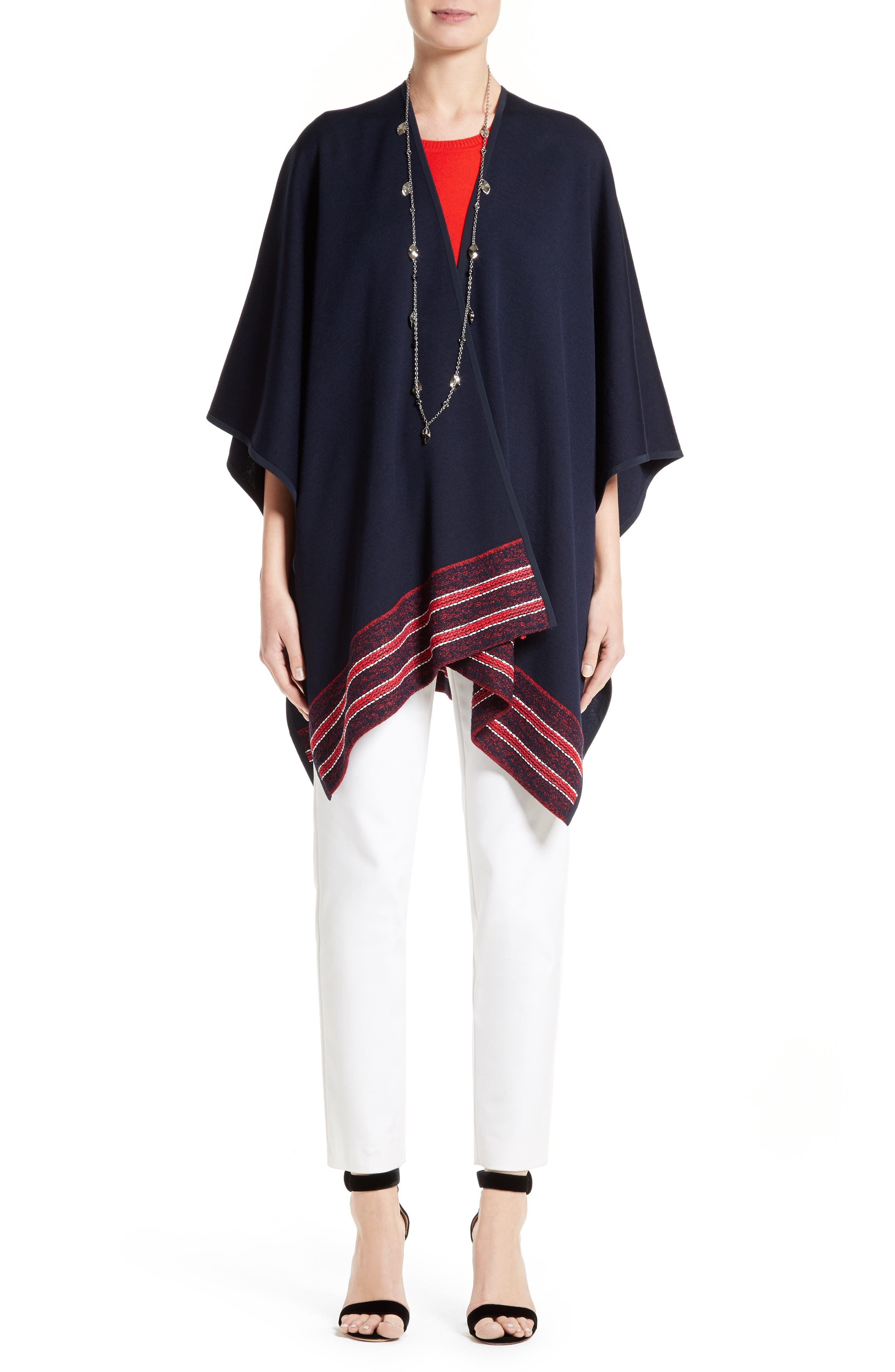 St. John Collection Wrap, Shell & Pants Outfit with Accessories
