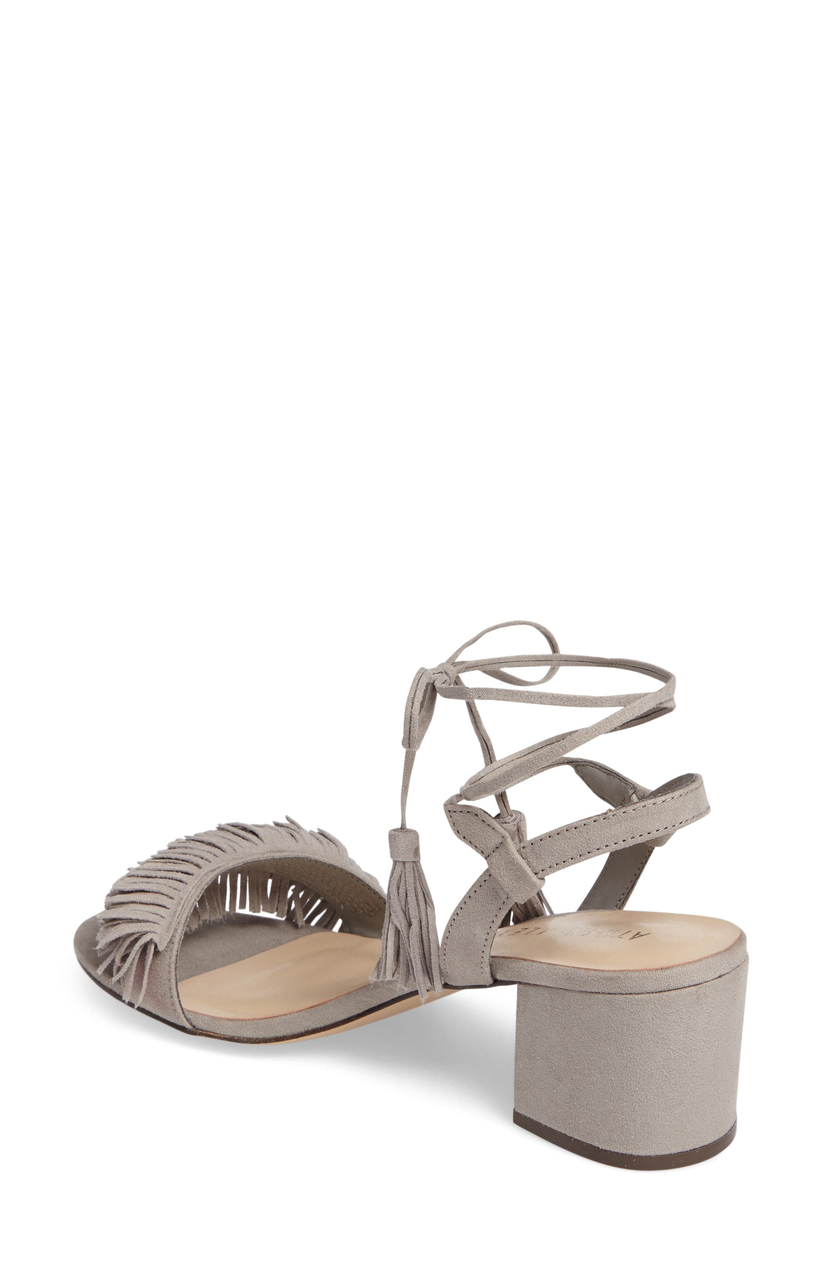 Alternate Image 2  - Athena Alexander Fringed Ankle Wrap Sandal (Women)