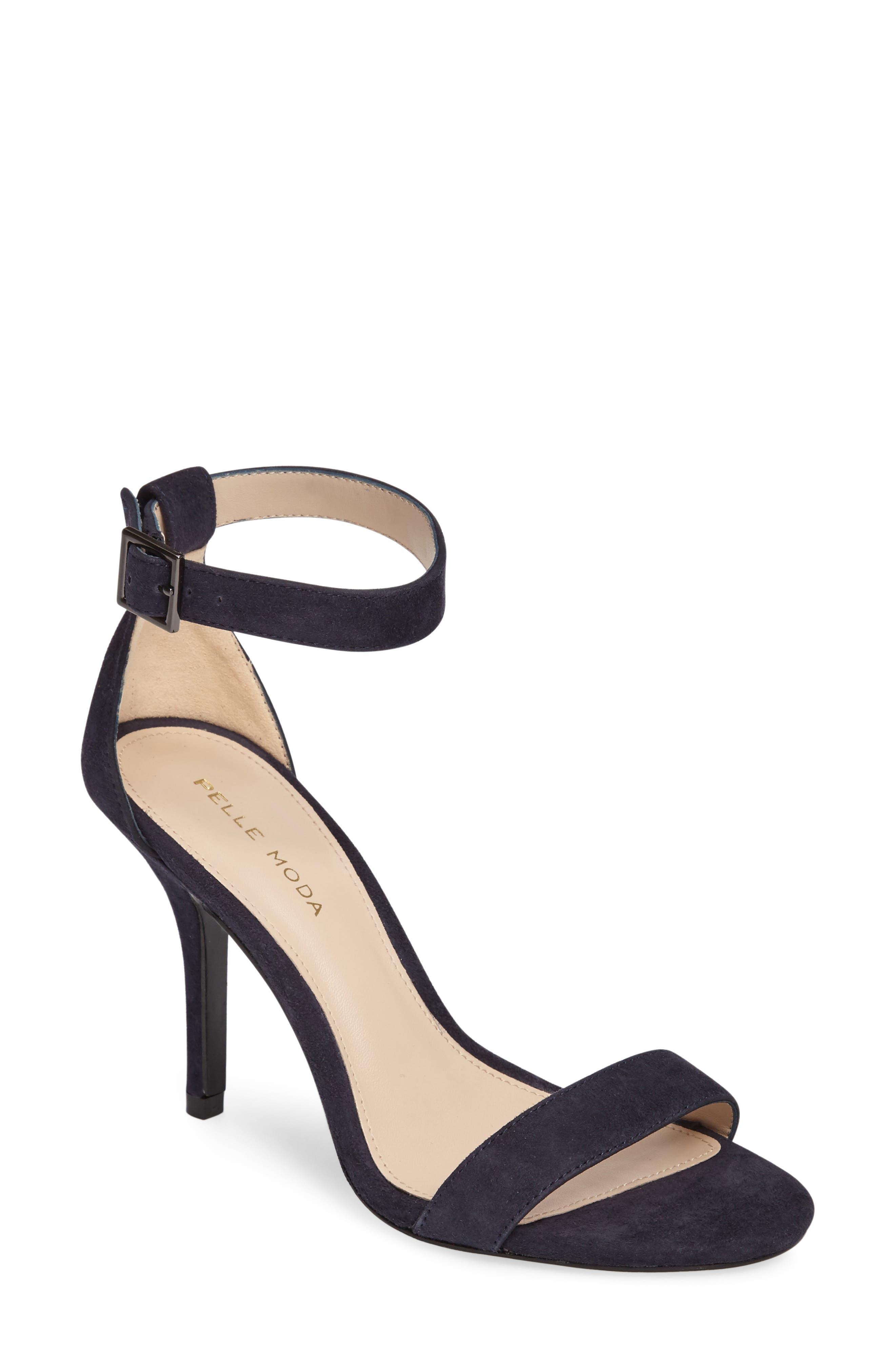 Kacey Sandal,                         Main,                         color, Midnight Leather