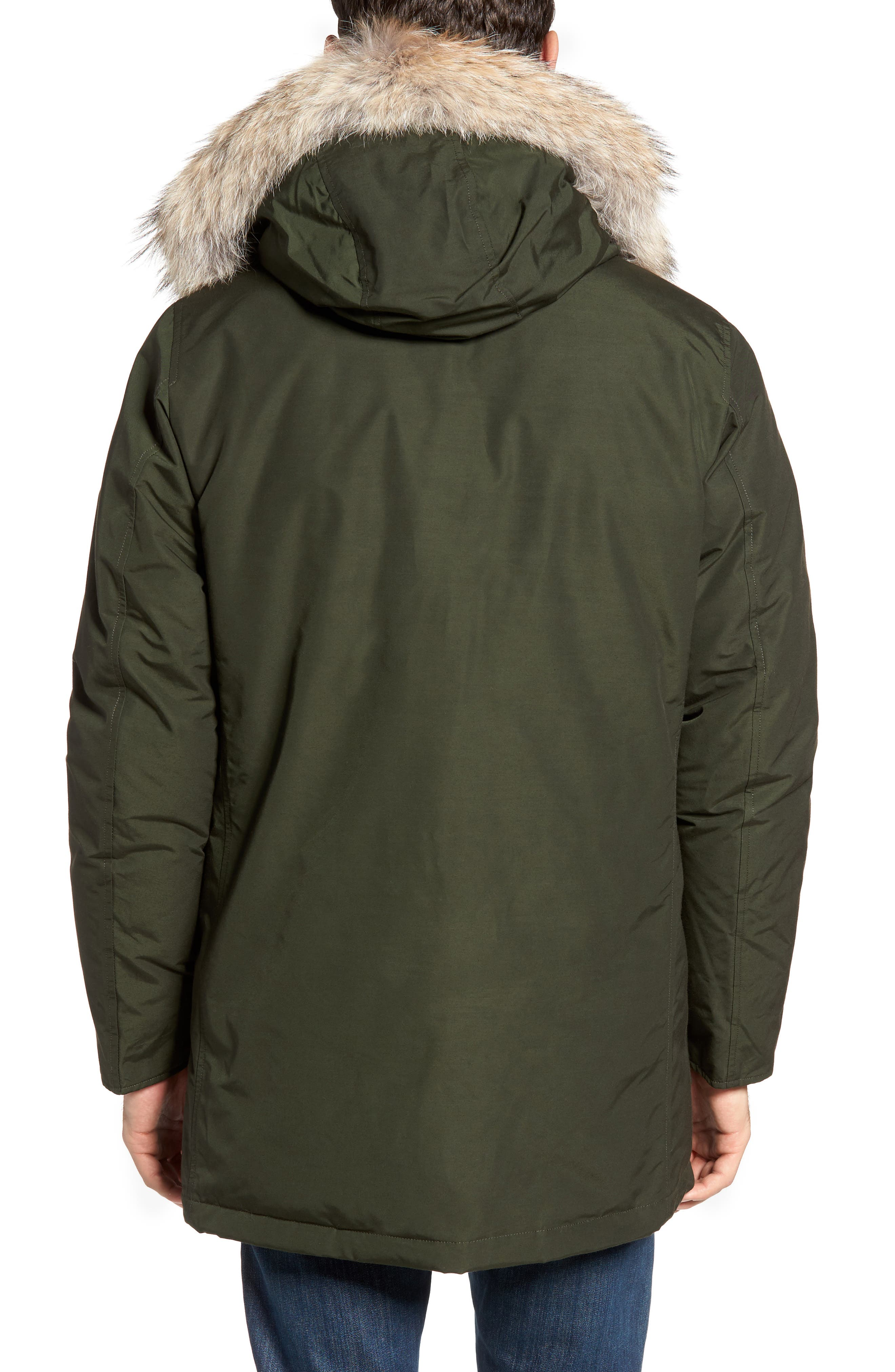 John Rich & Bros. Arctic Parka with Genuine Coyote Fur Trim,                             Alternate thumbnail 2, color,                             Rosin Green