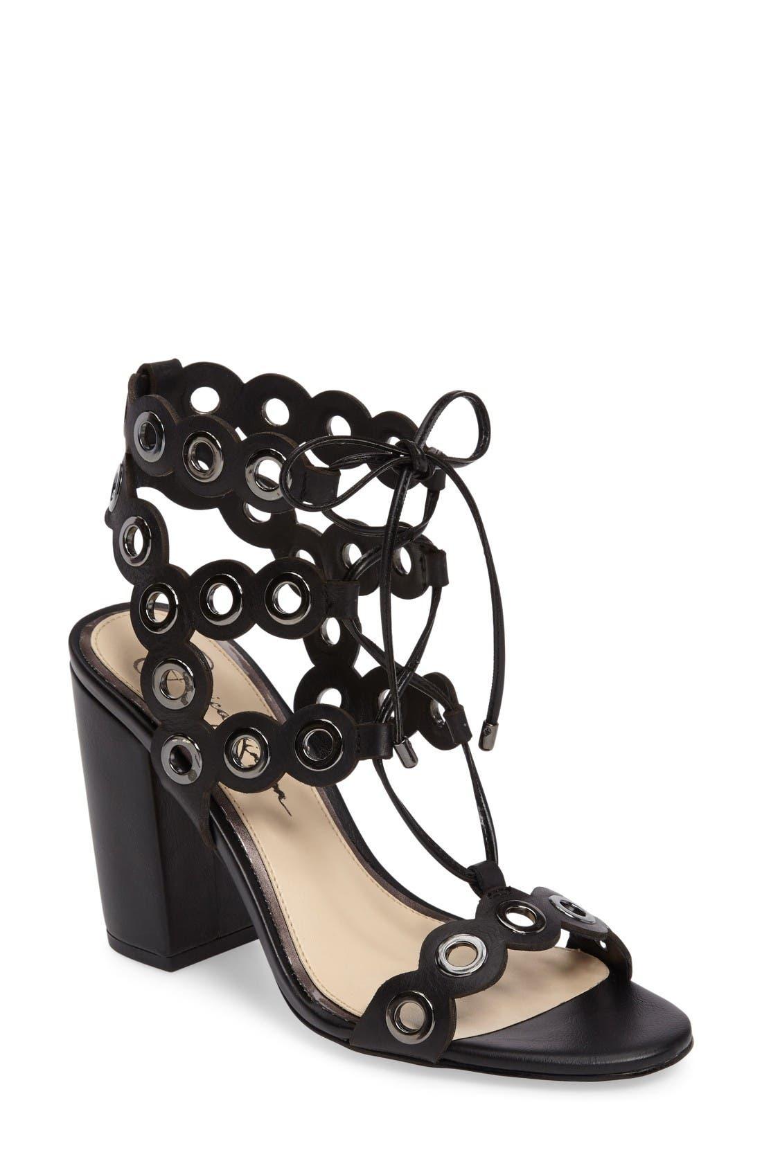 Alternate Image 1 Selected - Jessica Simpson Kariss Lace-Up Sandal (Women)