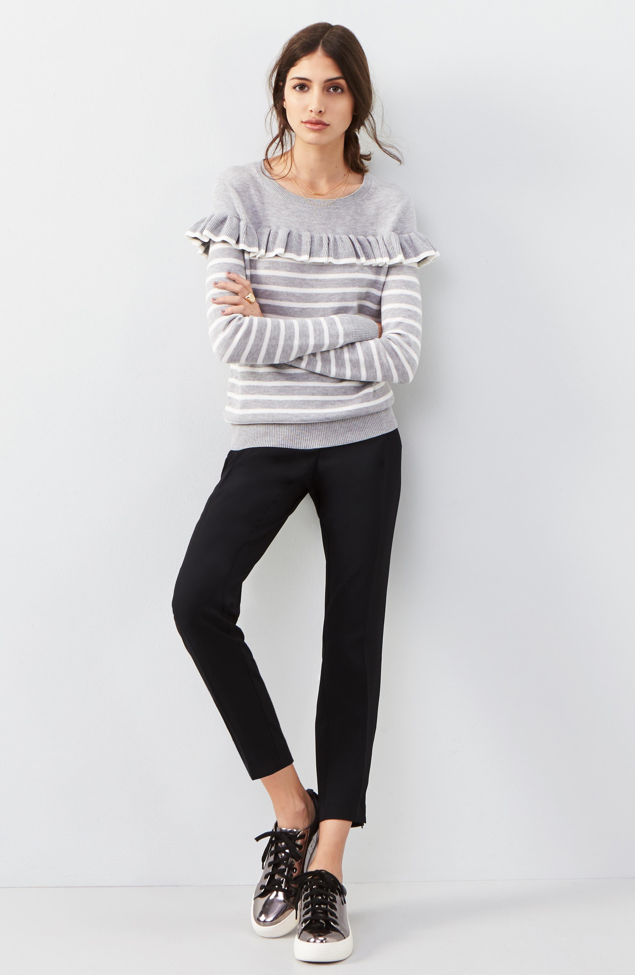 Alternate Image 7  - Trouvé High Waist Pleat Front Crop Pants