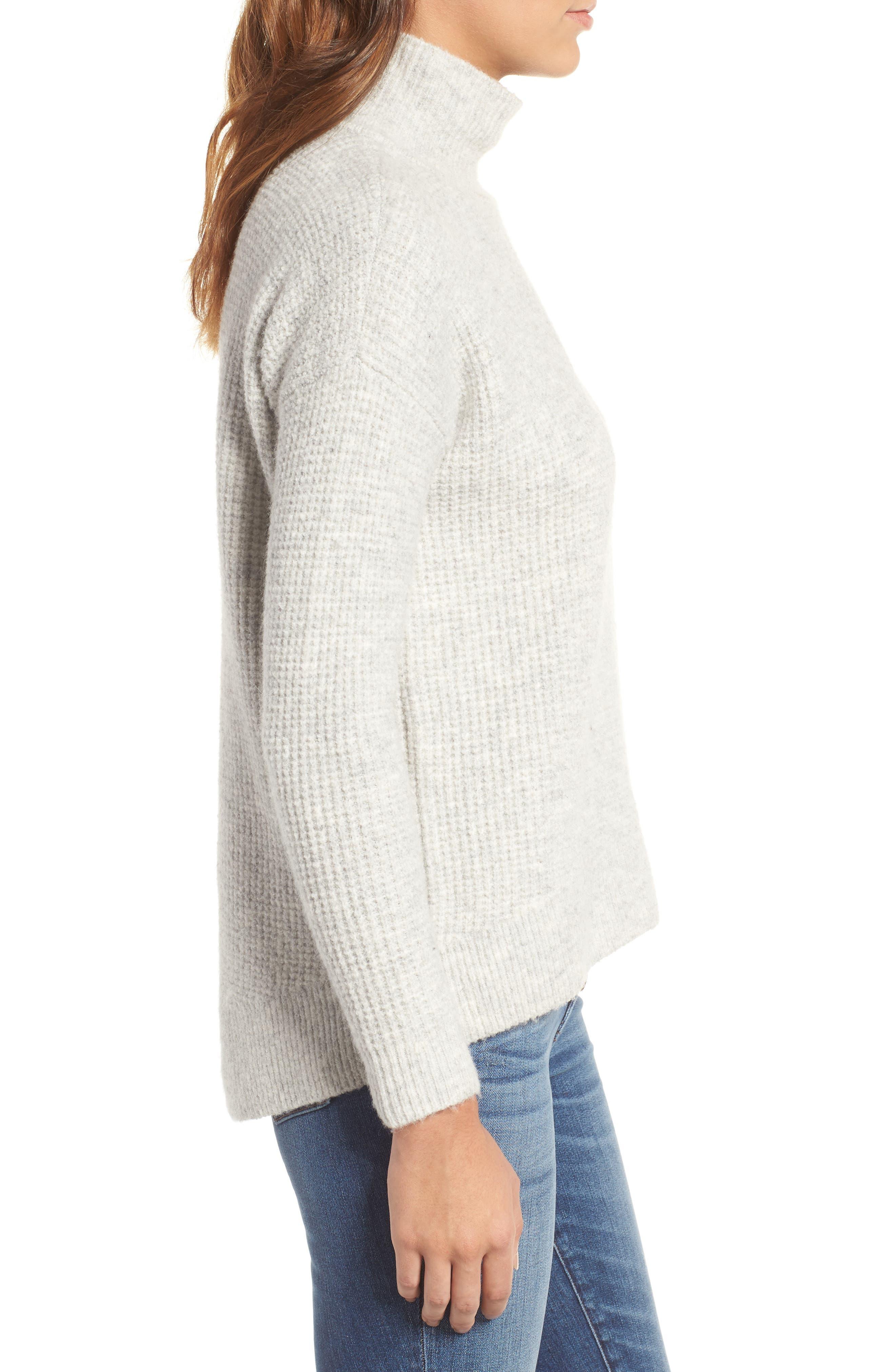 Alternate Image 3  - Madewell Wafflestitch Turtleneck Sweater