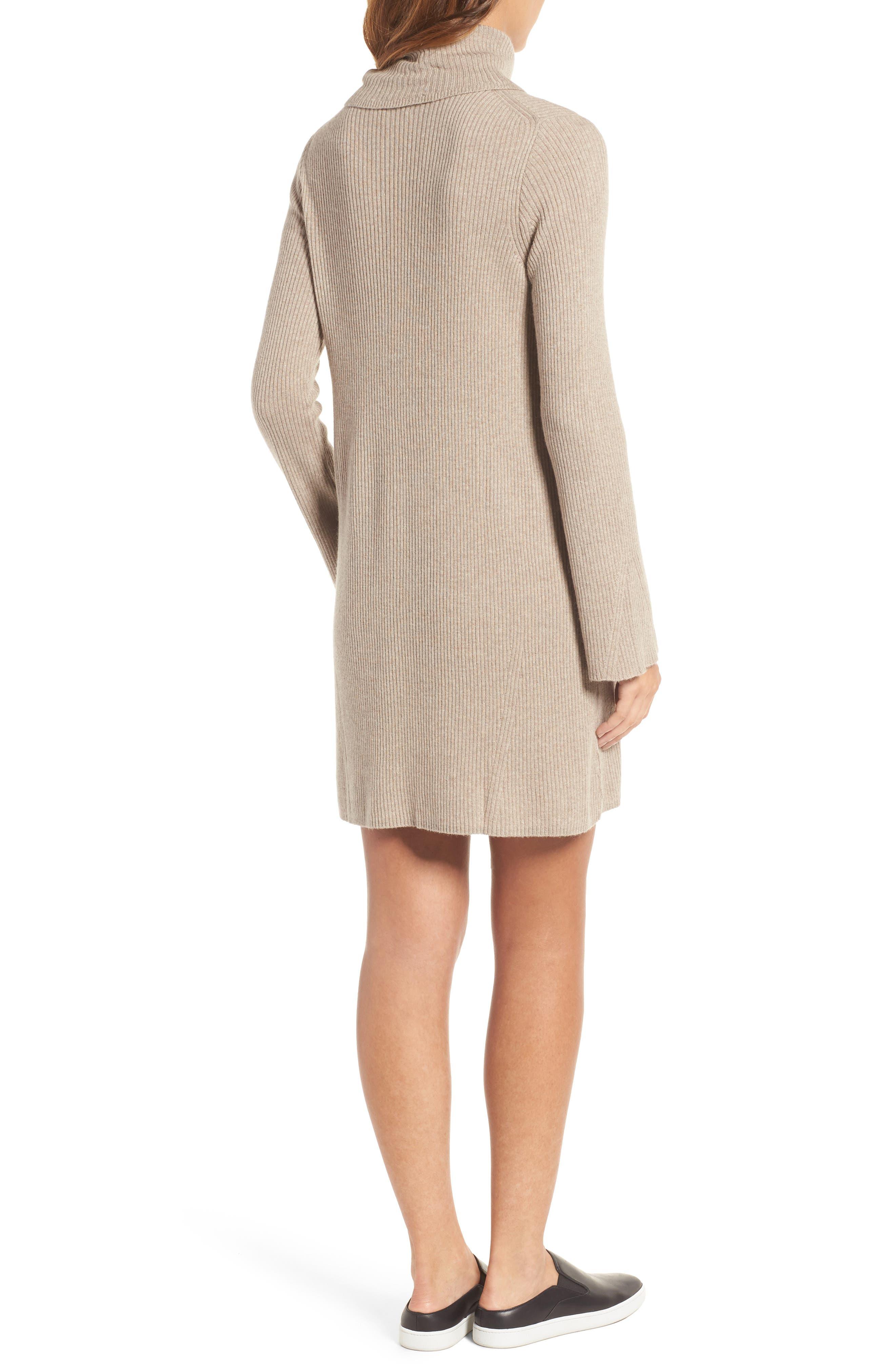 Turtleneck Sweater Dress,                             Alternate thumbnail 2, color,                             Heather Hazelwood