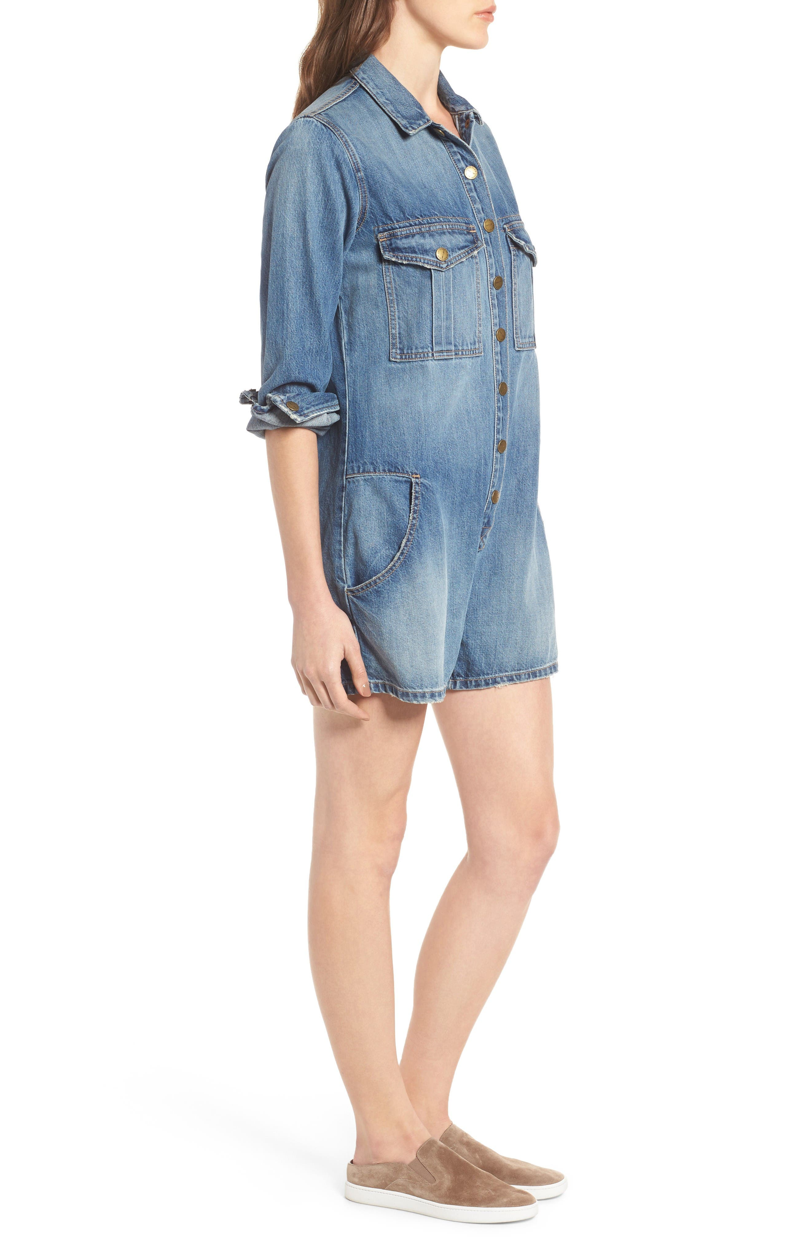 Alternate Image 3  - Current/Elliott The Jamie Denim Romper