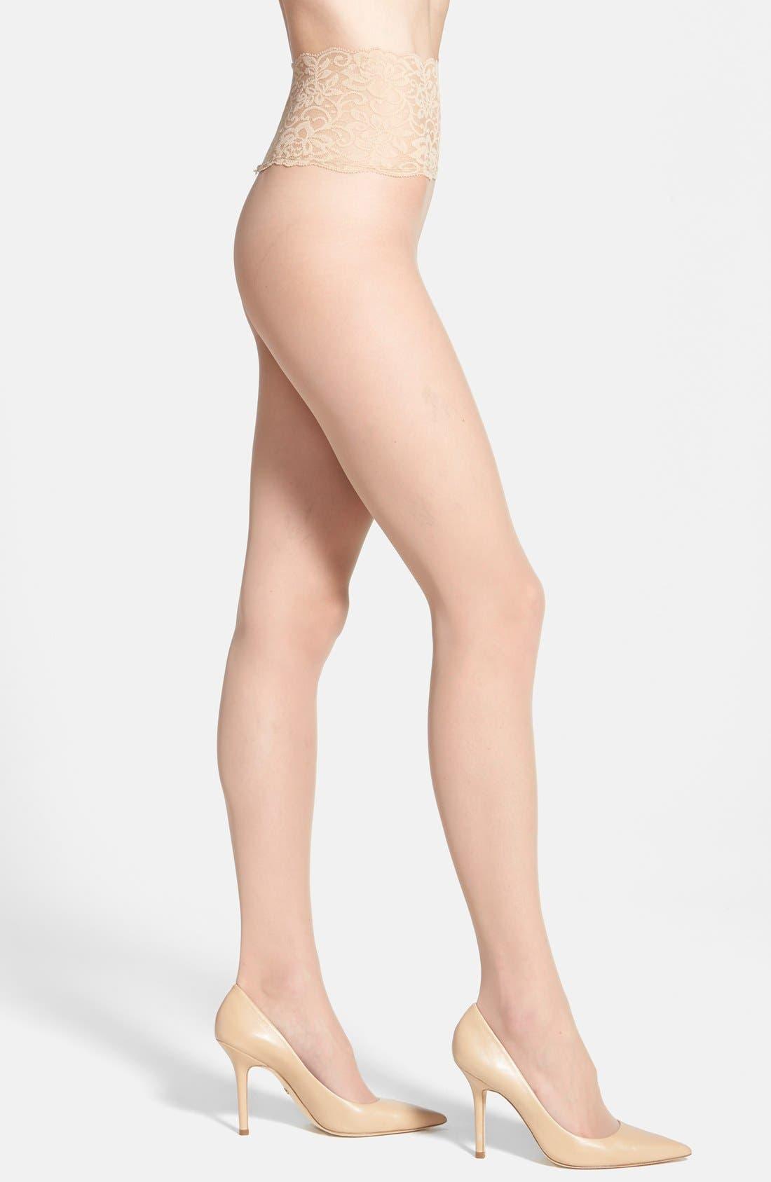 The Sexy Sheer Pantyhose,                             Main thumbnail 1, color,                             Medium Nude