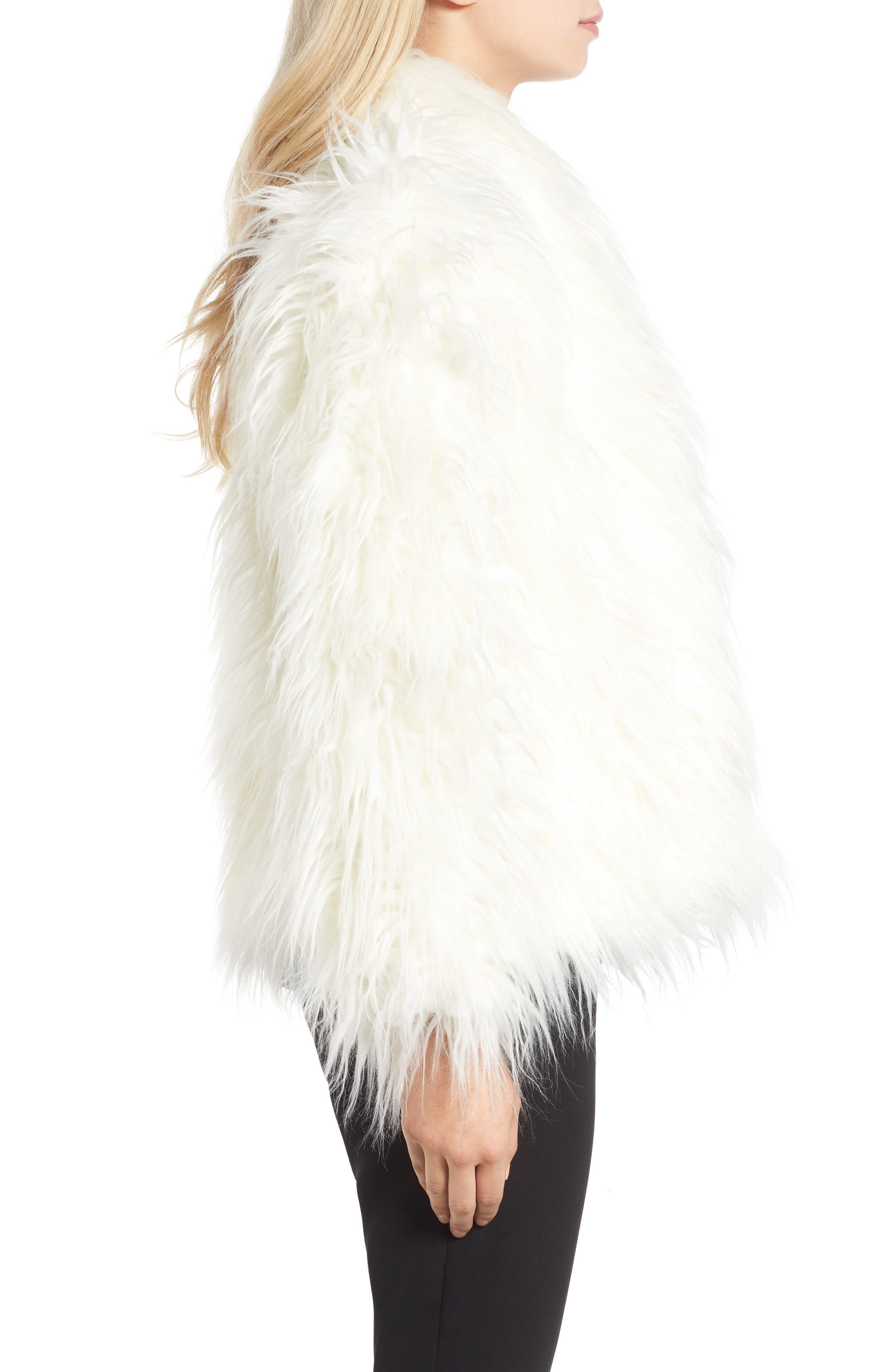 Alternate Image 3  - Olivia Palermo + Chelsea28 Open Front Faux Fur Jacket