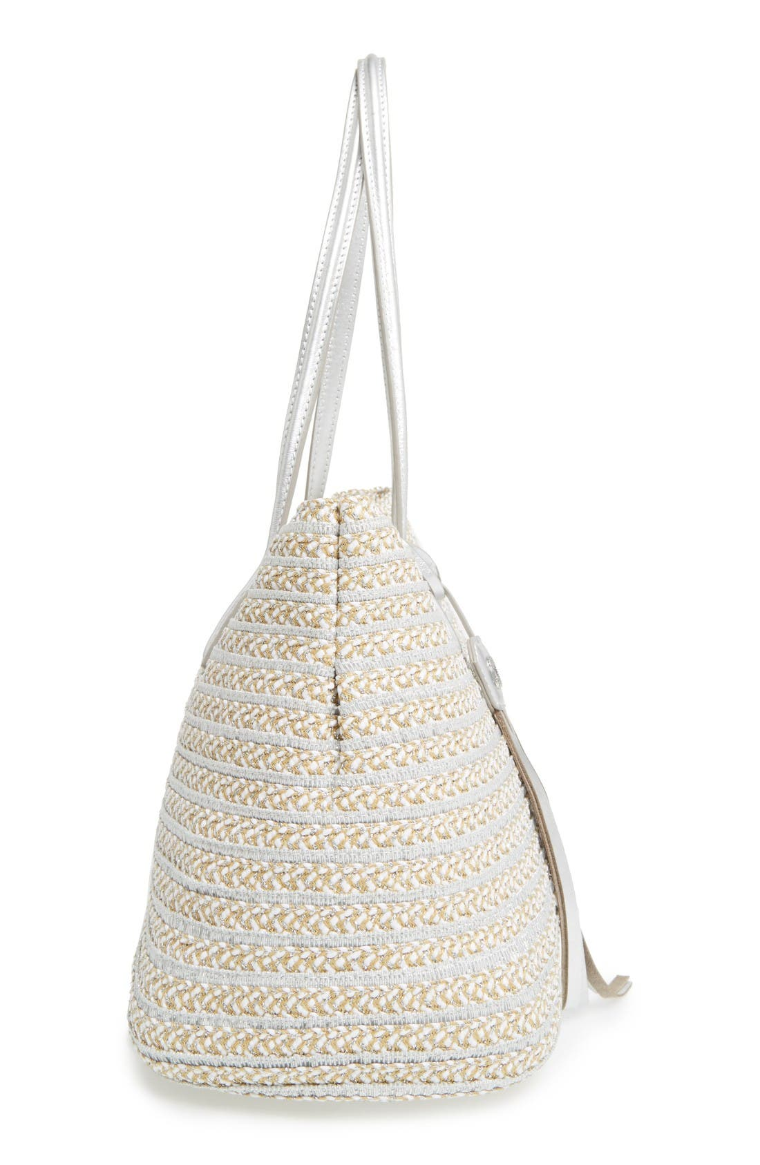 'Dame - Brooke' Tote,                             Alternate thumbnail 5, color,                             Frost White