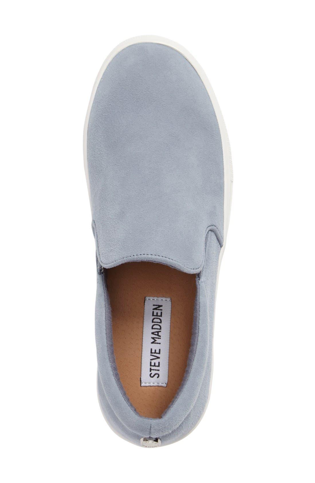 Gills Platform Slip-On Sneaker,                             Alternate thumbnail 3, color,                             Light Blue