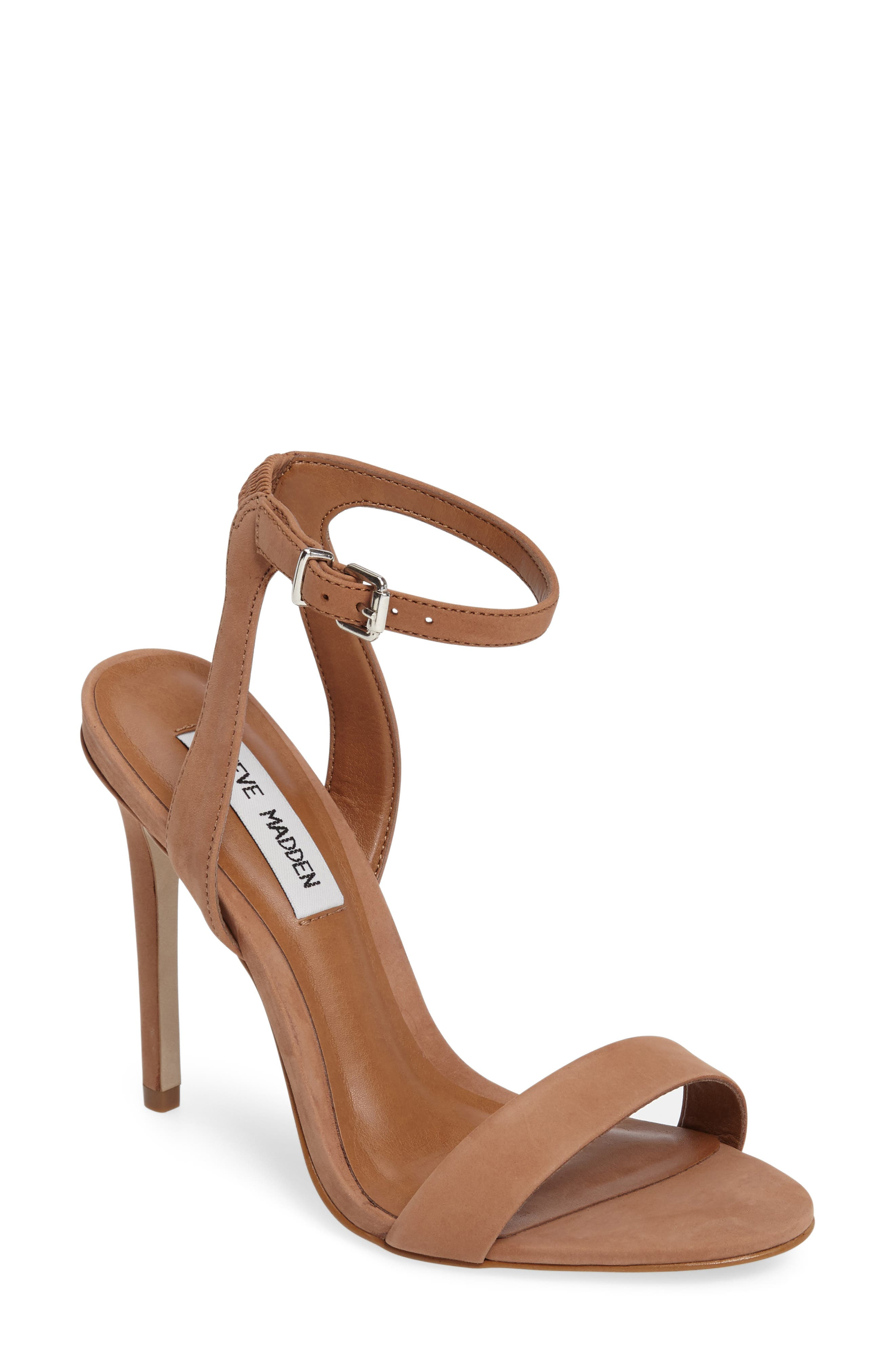 Alternate Image 1 Selected - Steve Madden Landen Ankle Strap Sandal (Women)