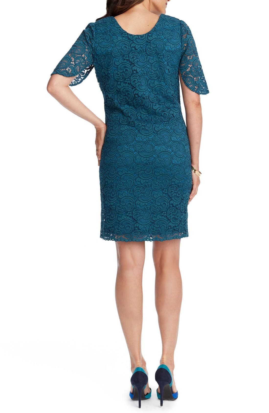 Alternate Image 2  - Rosie Pope Lainey Lace Maternity Sheath Dress