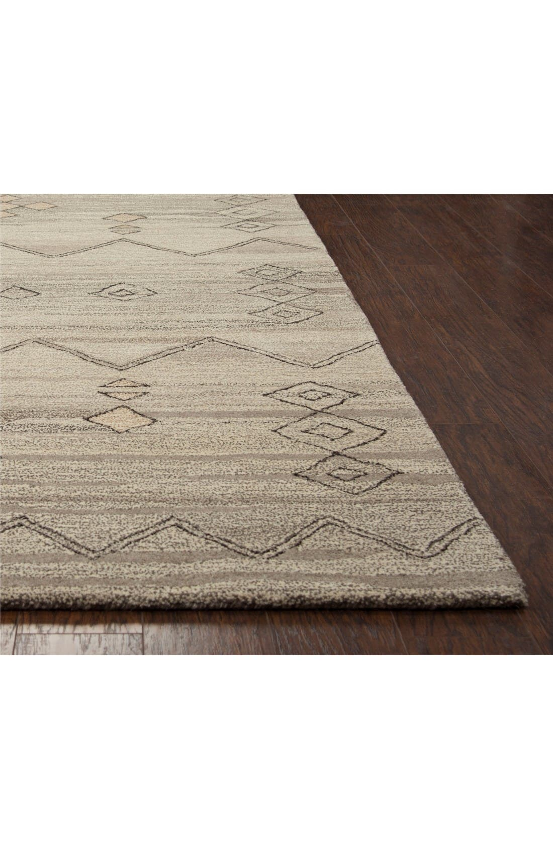 Desert Plains Hand Tufted Wool Area Rug,                             Alternate thumbnail 2, color,                             Grey