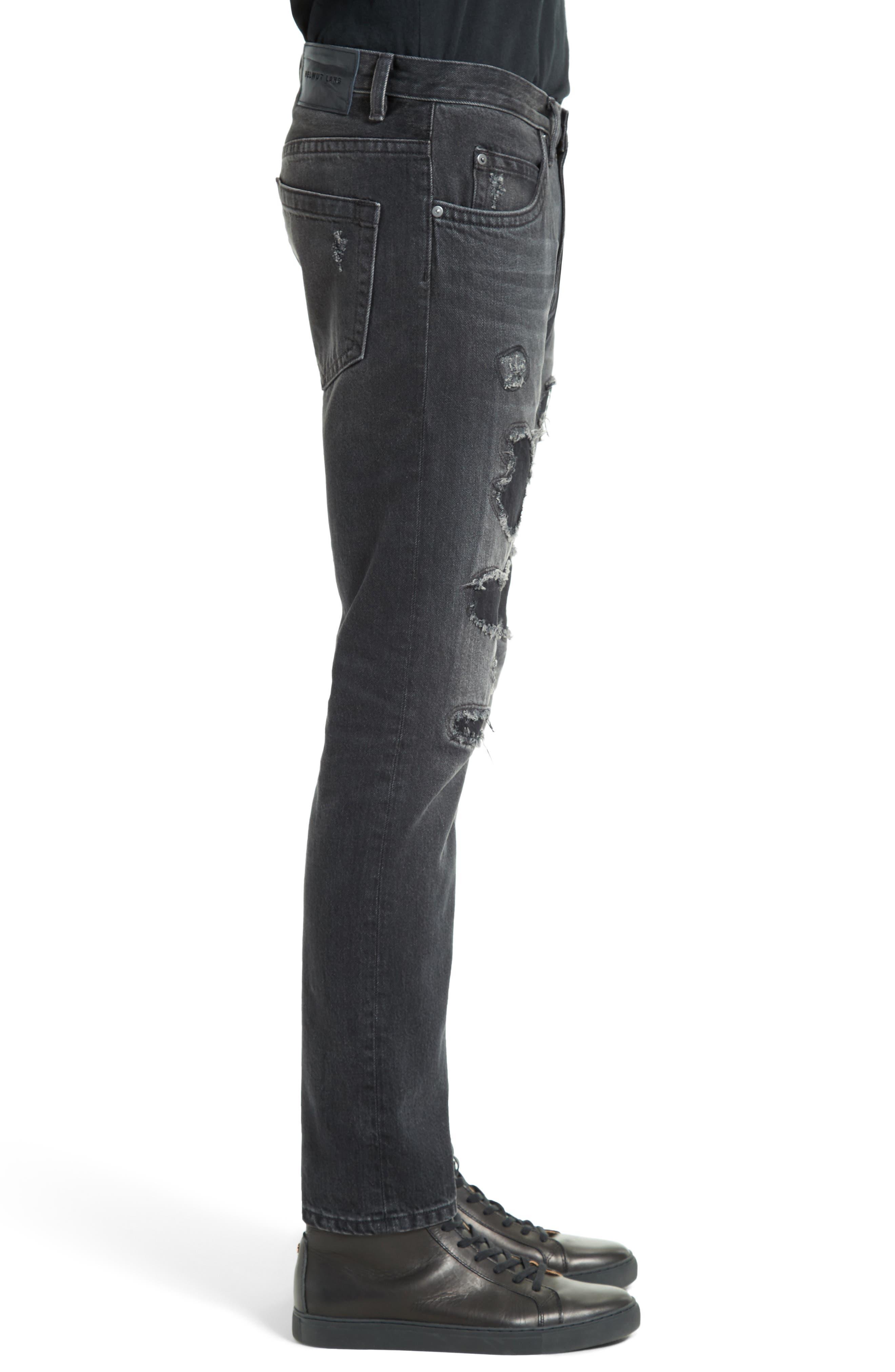 MR87 Destroyed Jeans,                             Alternate thumbnail 3, color,                             Black