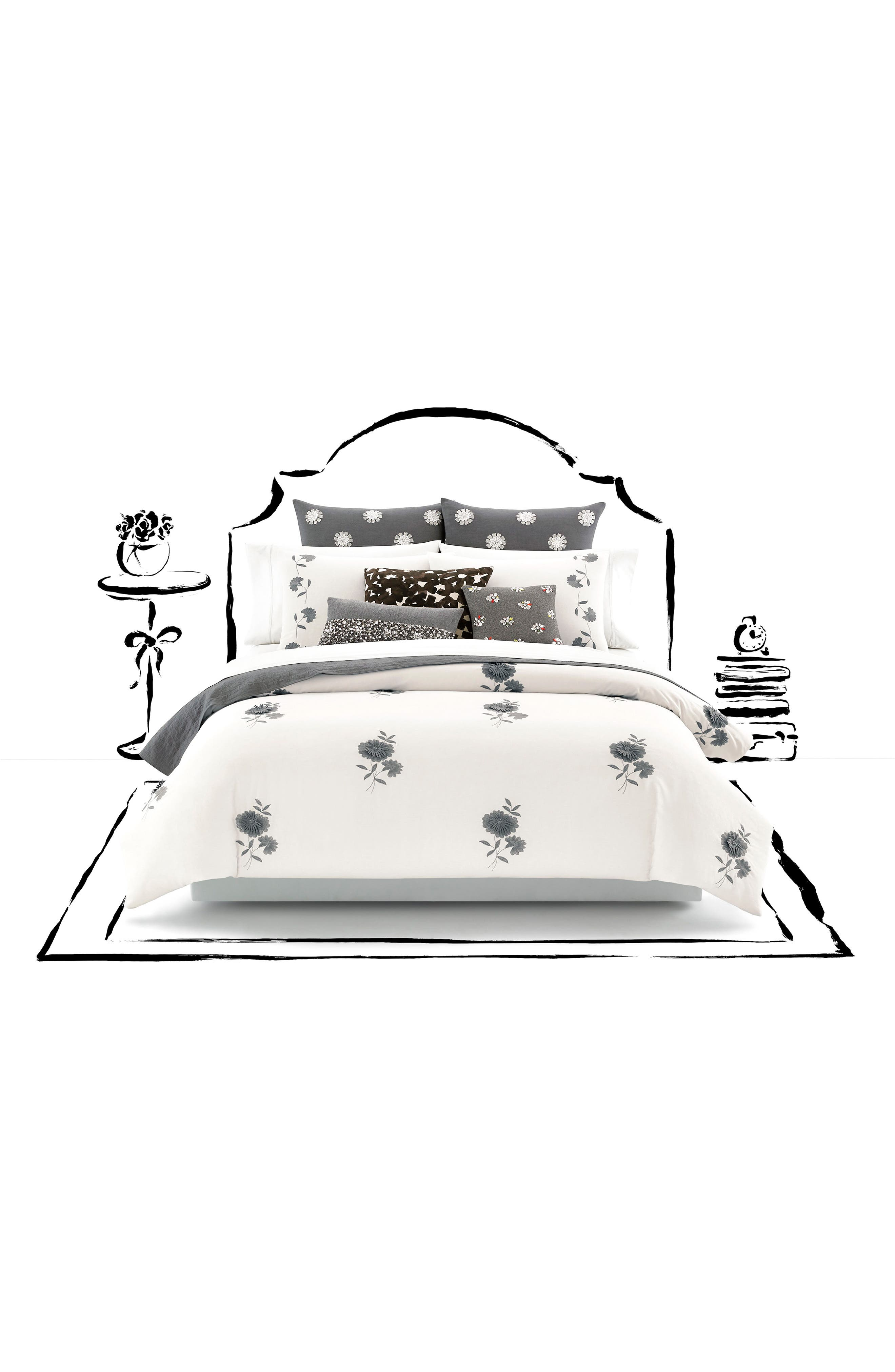 kate spade new york lacey daisy duvet
