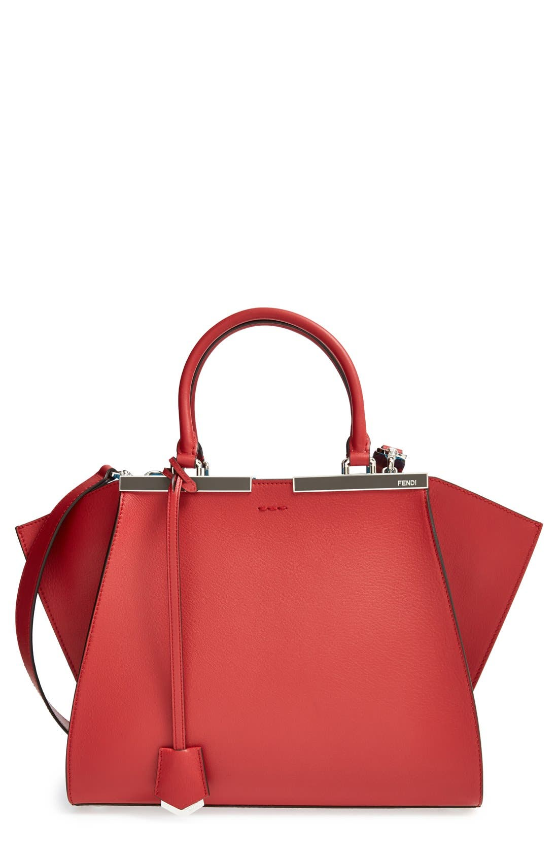 '3JOURS' LEATHER SHOPPER - RED
