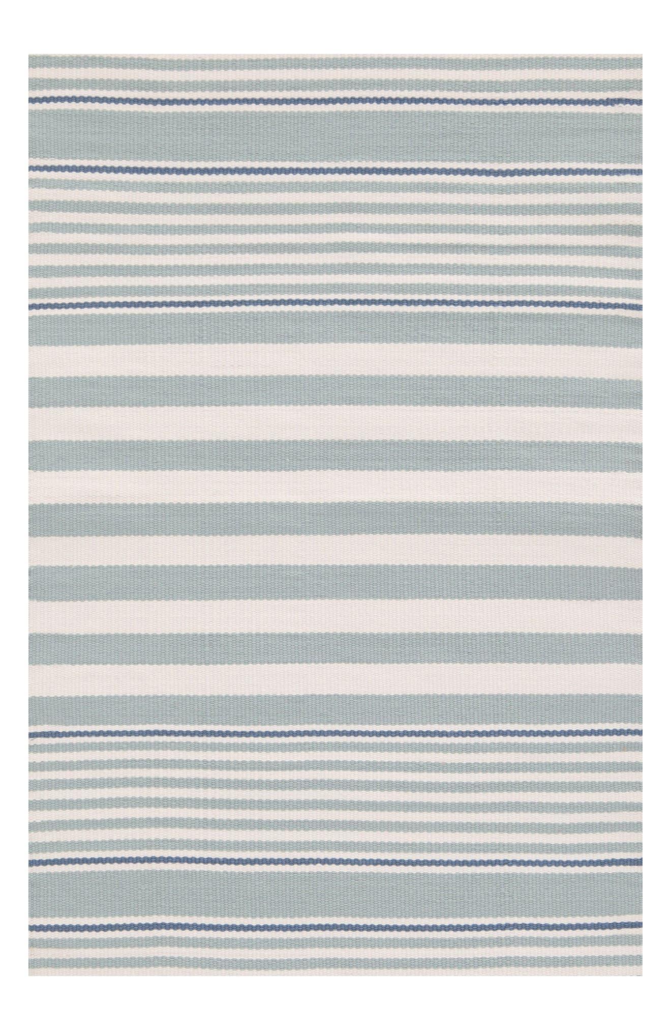 Stripe Indoor/Outdoor Rug,                         Main,                         color, Blue