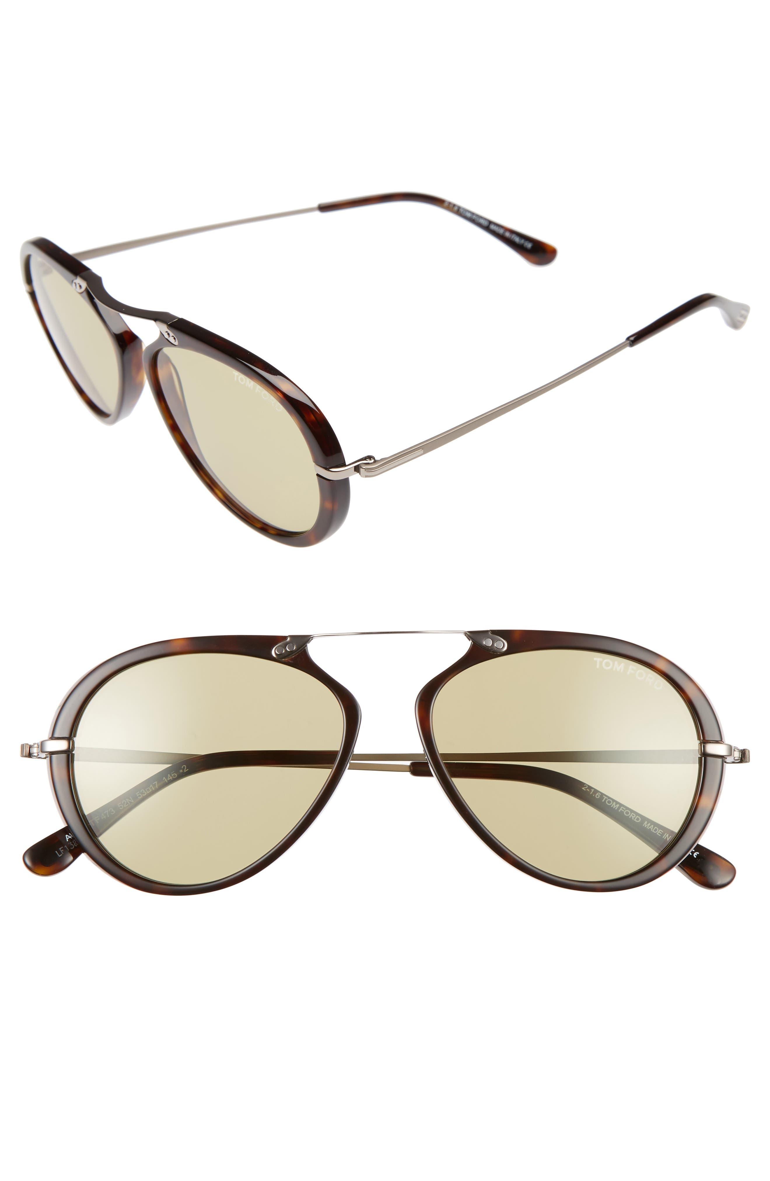 Main Image - Tom Ford 'Aaron' 53mm Sunglasses