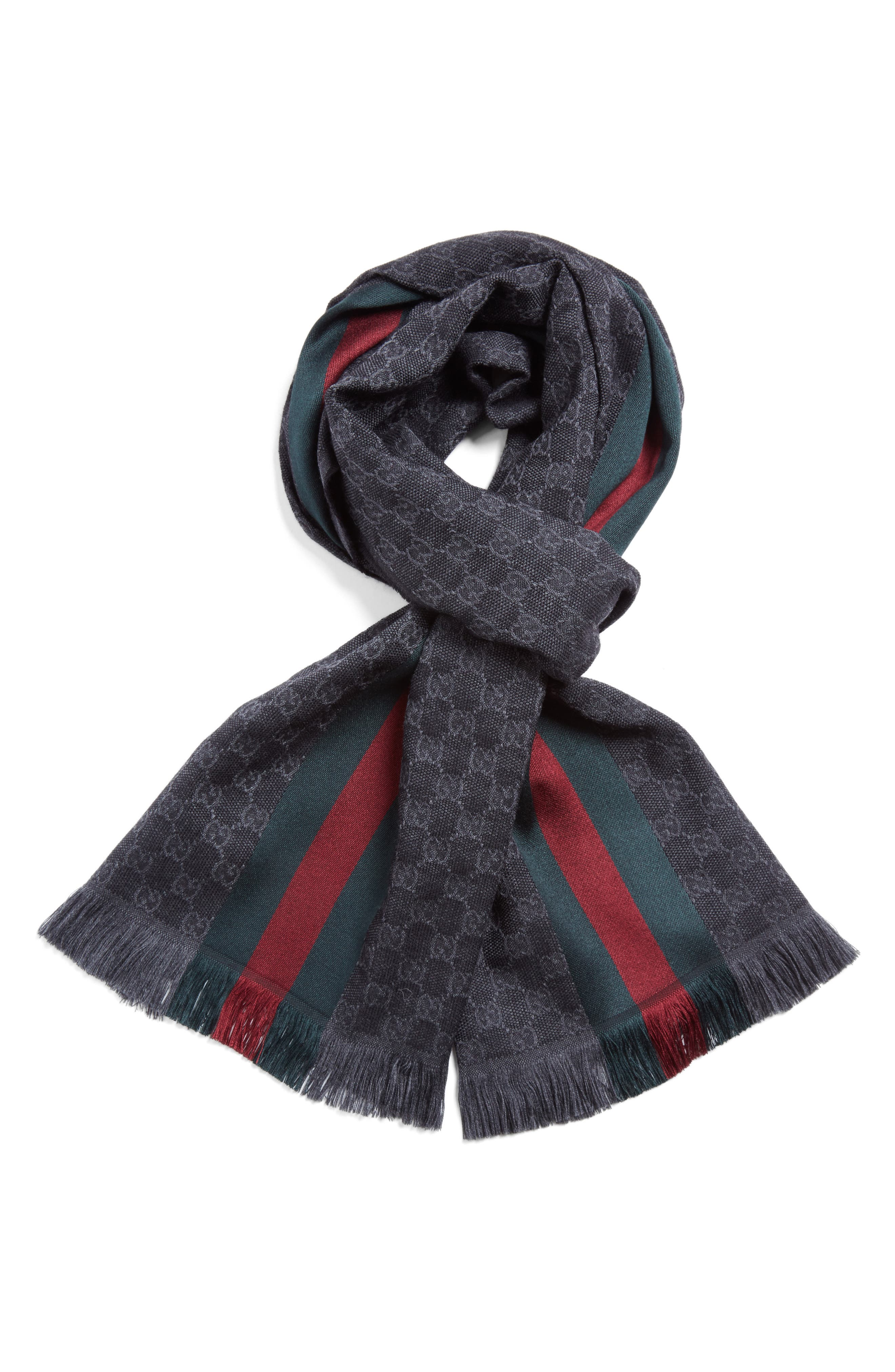 Gucci Verbier Wool & Silk Scarf