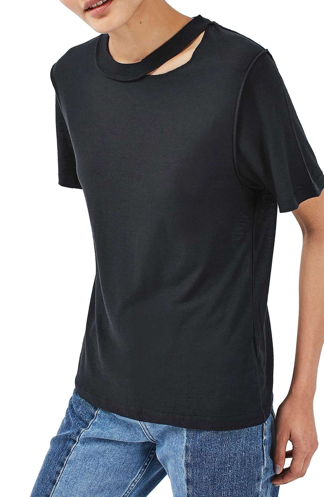 Alternate Image 4  - Topshop Boutique Reverse Seam Tee