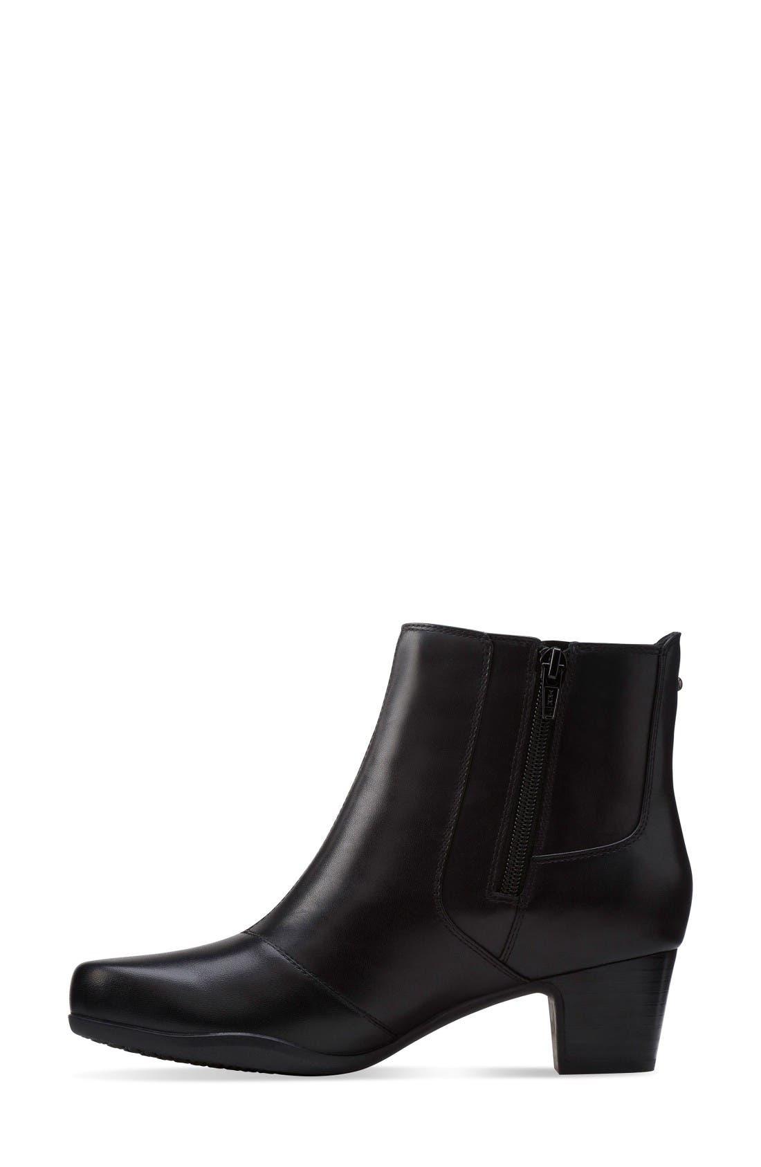 Rosalyn Lara Waterproof Boot,                             Alternate thumbnail 2, color,                             Black Leather