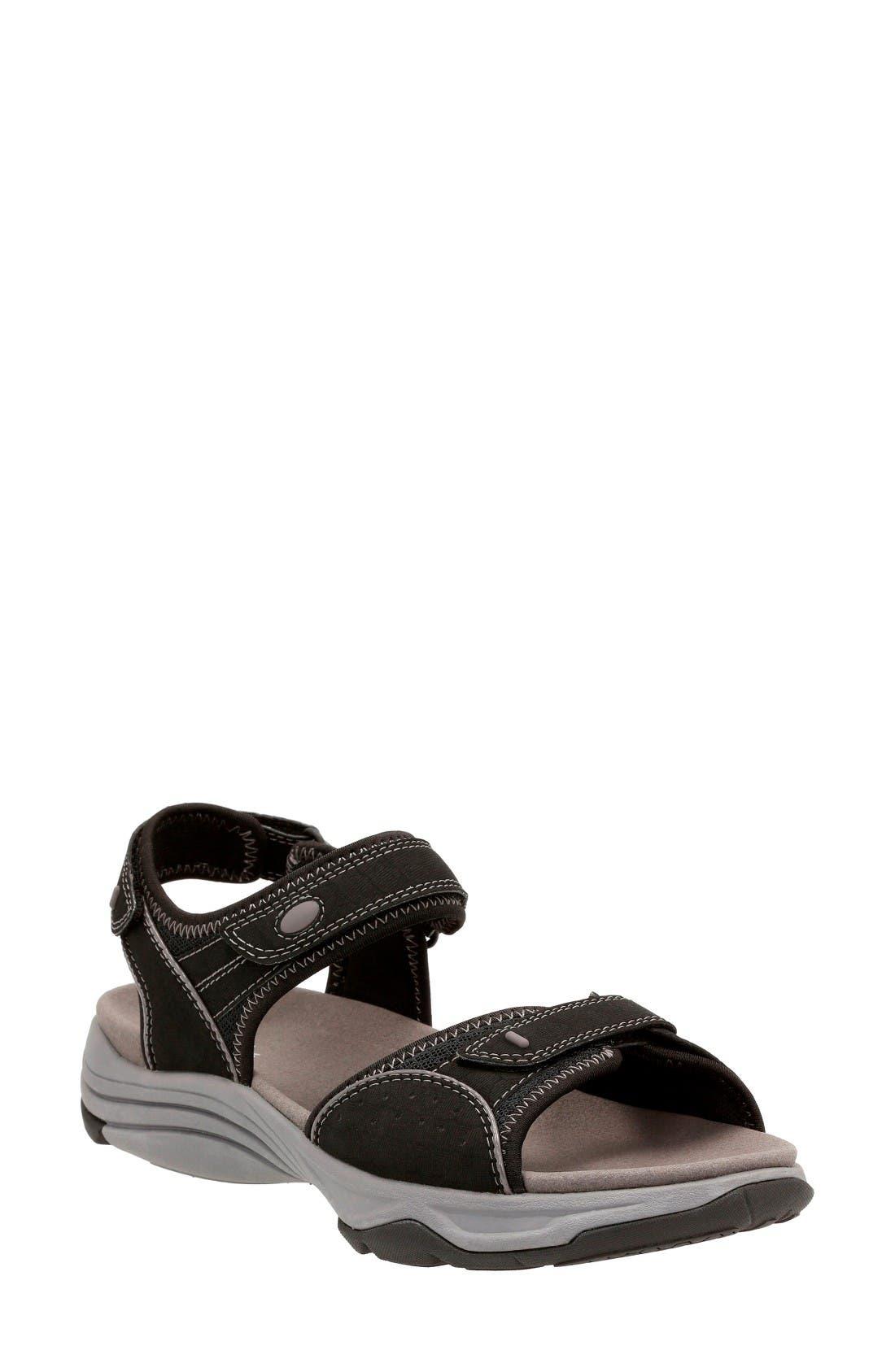 Alternate Image 1 Selected - Clarks® Wave Grip Sandal (Women)