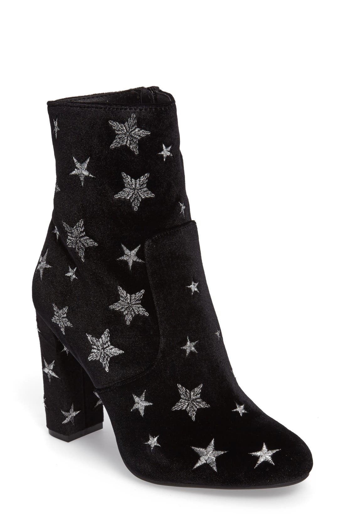 Main Image - Steve Madden Edit Embroidered Star Bootie (Women)