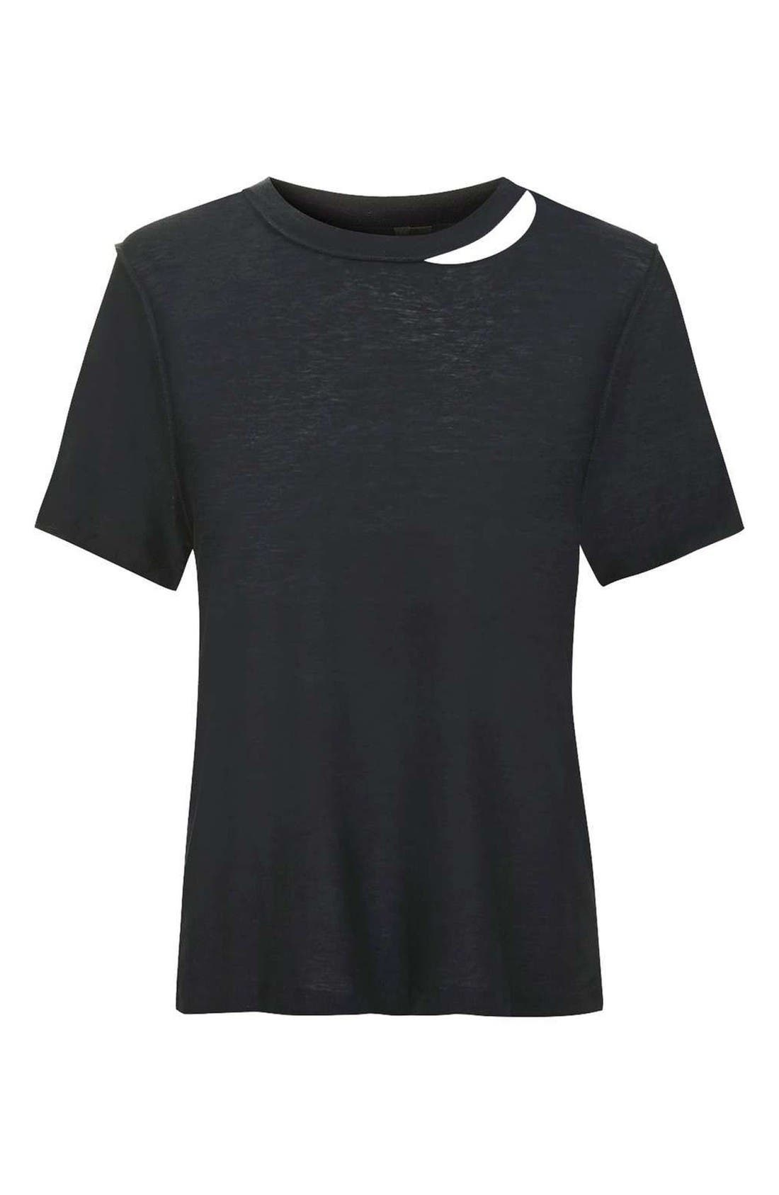 Alternate Image 5  - Topshop Boutique Reverse Seam Tee