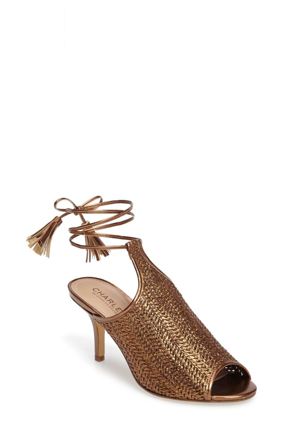 Charles by Charles David Niko Ankle Tie Sandal (Women)