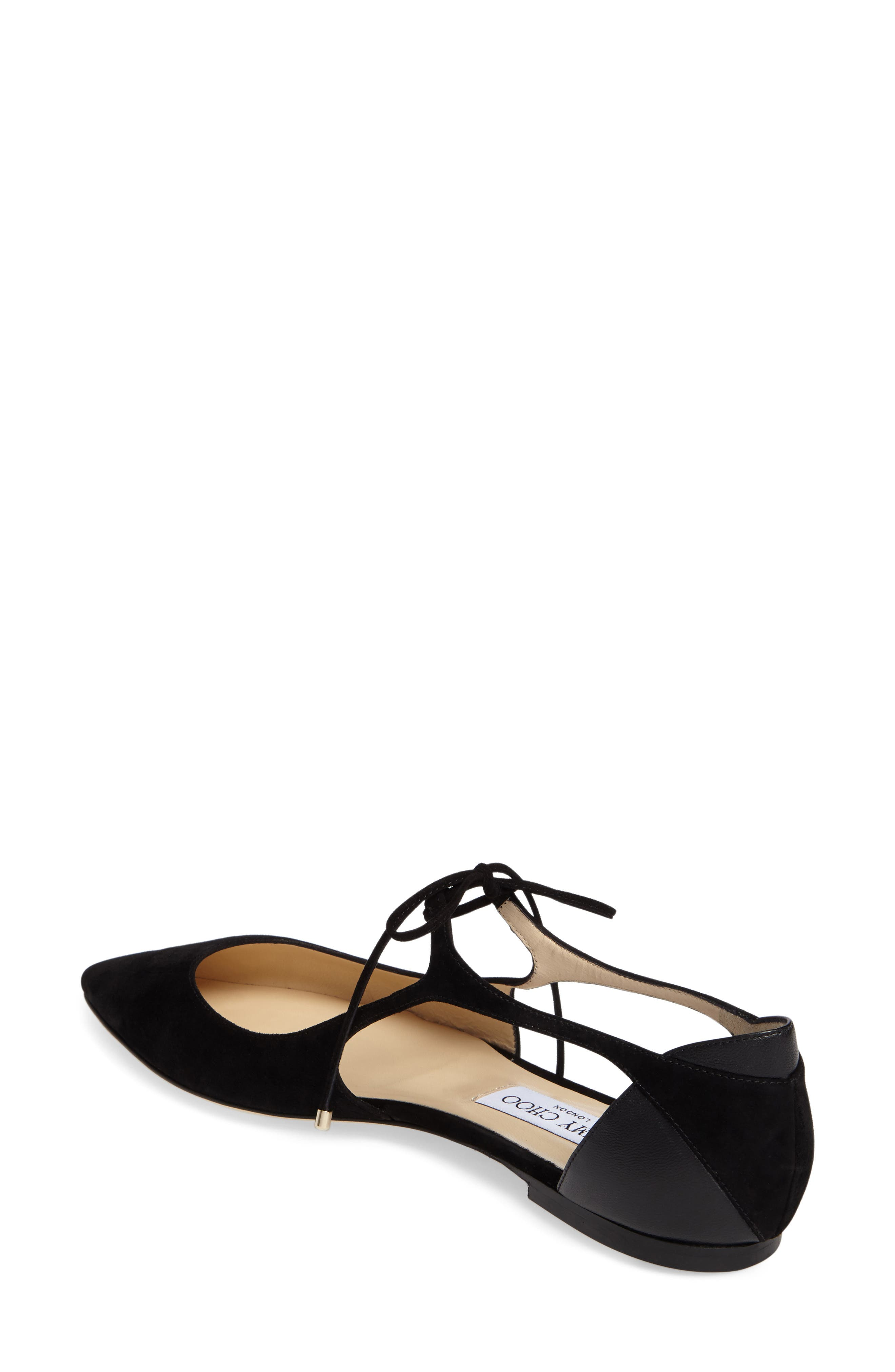 Alternate Image 2  - Jimmy Choo Vanessa Lace-Up Flat (Women)