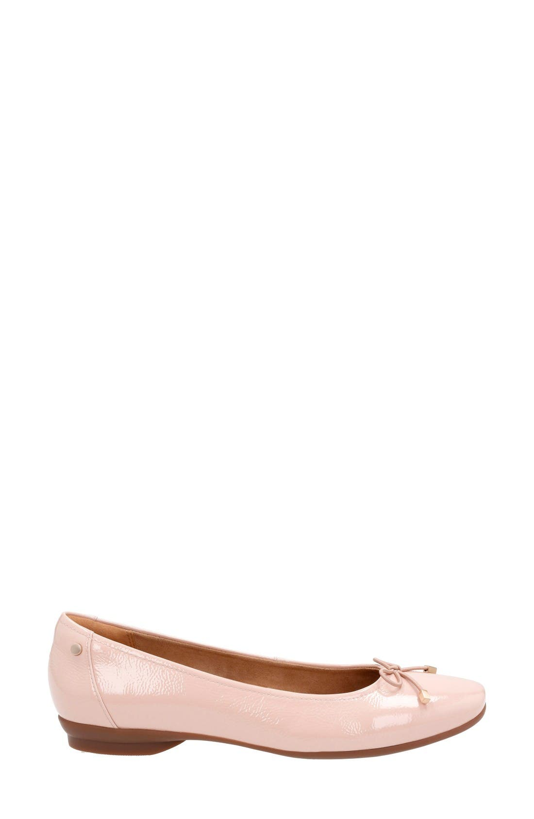 'Candra Light' Flat,                             Alternate thumbnail 3, color,                             Dusty Pink Patent Leather