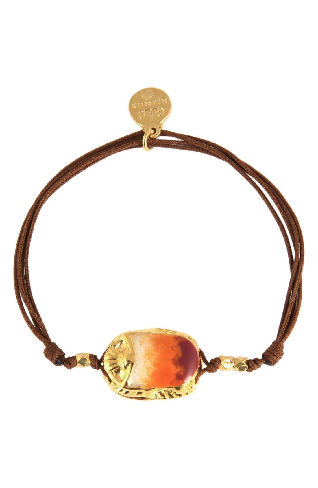 'Scaramouche' String Bracelet,                         Main,                         color, Brown/ Orange