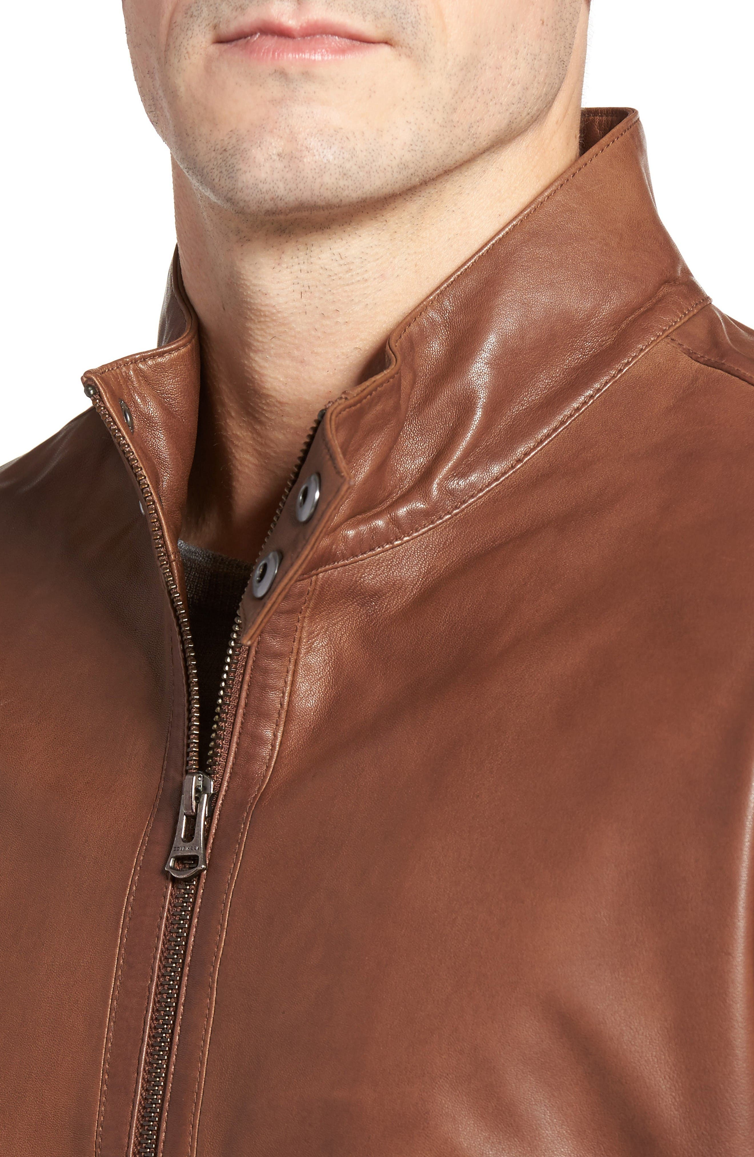Alternate Image 4  - Cole Haan Lamb Leather Jacket