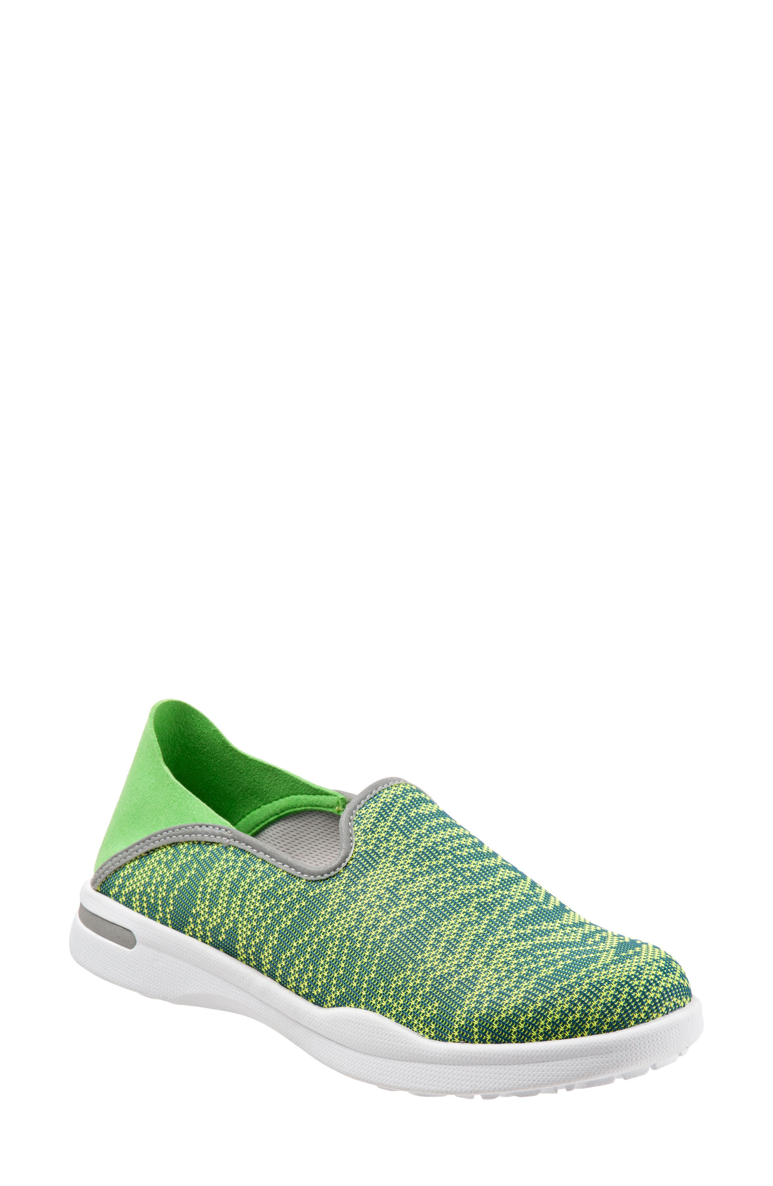 Convertible Slip-On Sneaker,                         Main,                         color, Green Fabric