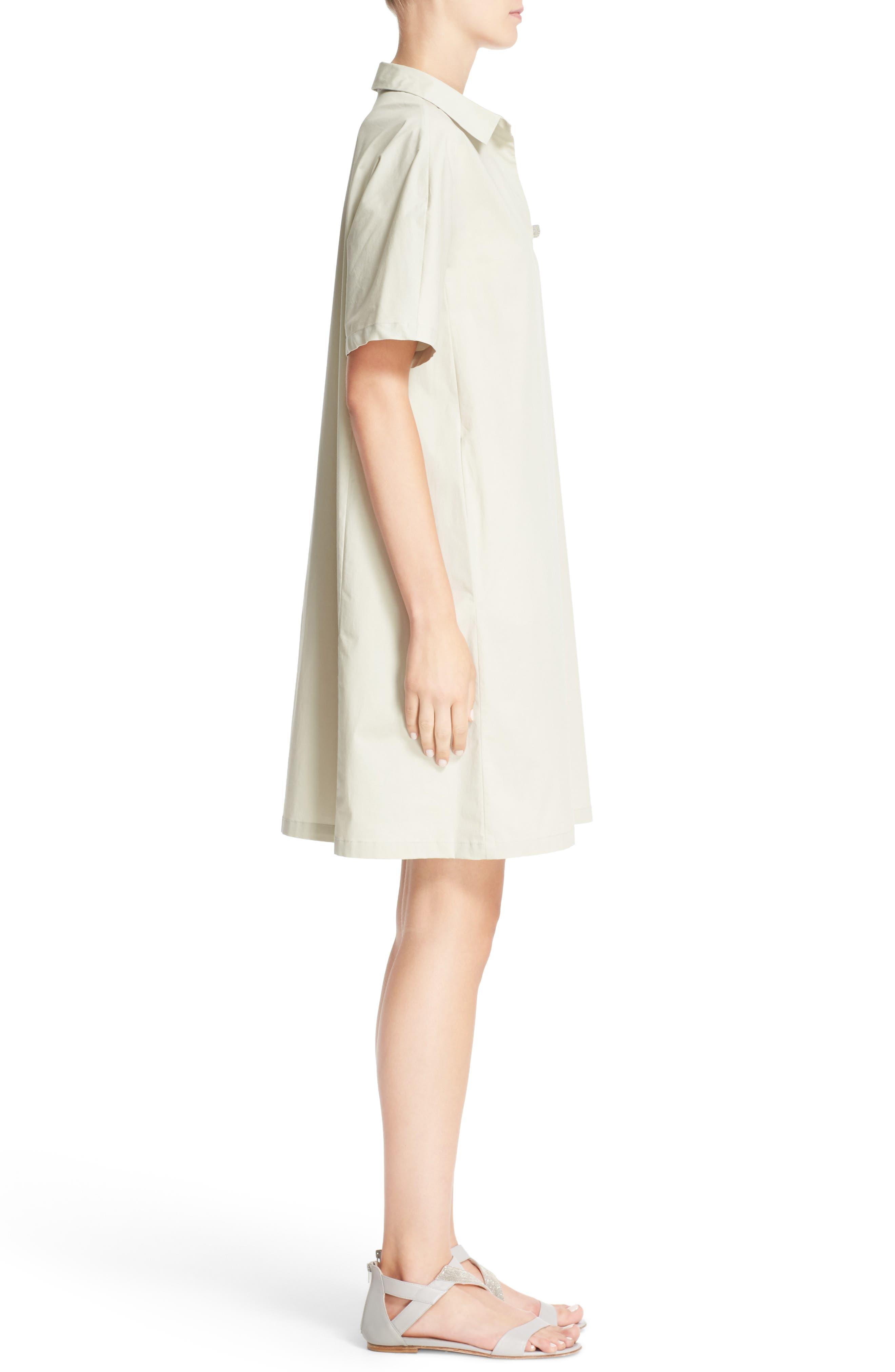 Alternate Image 5  - Fabiana Filippi Grosgrain Trim Shirtdress