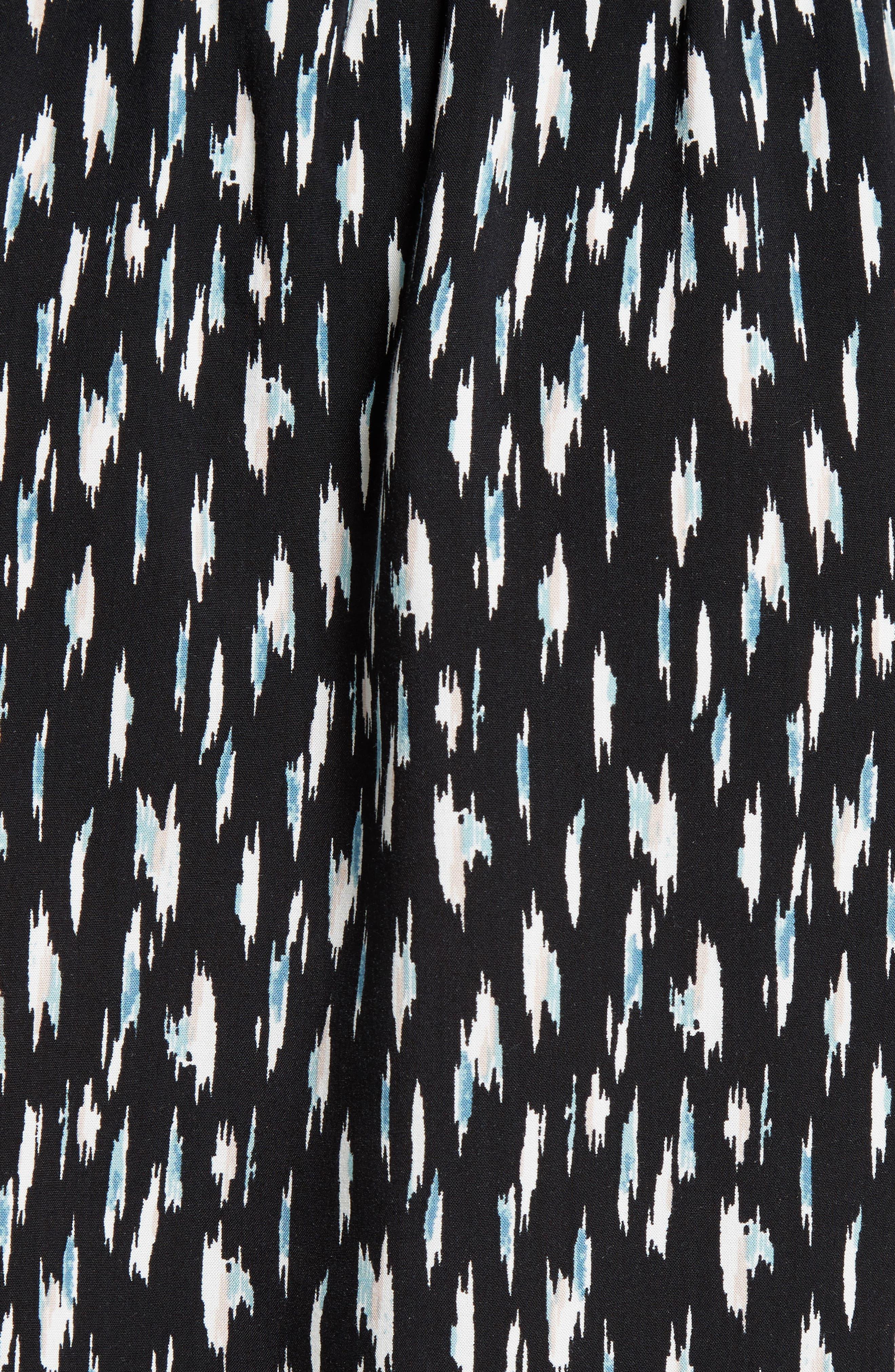 Joie Cassina Print Shirtdress,                             Alternate thumbnail 5, color,                             Caviar