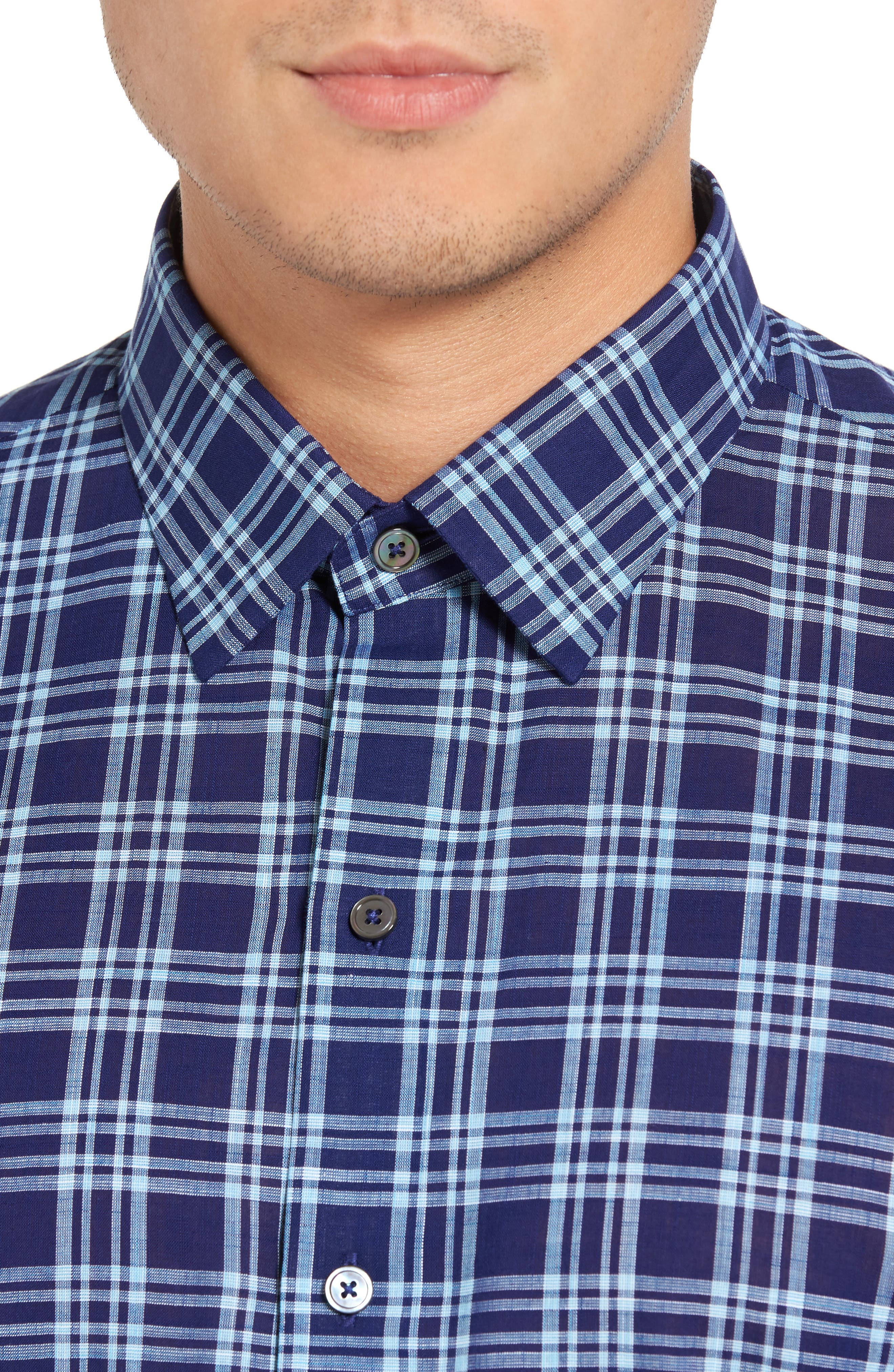 Alternate Image 4  - Zachary Prell Leventhal Trim Fit Plaid Sport Shirt