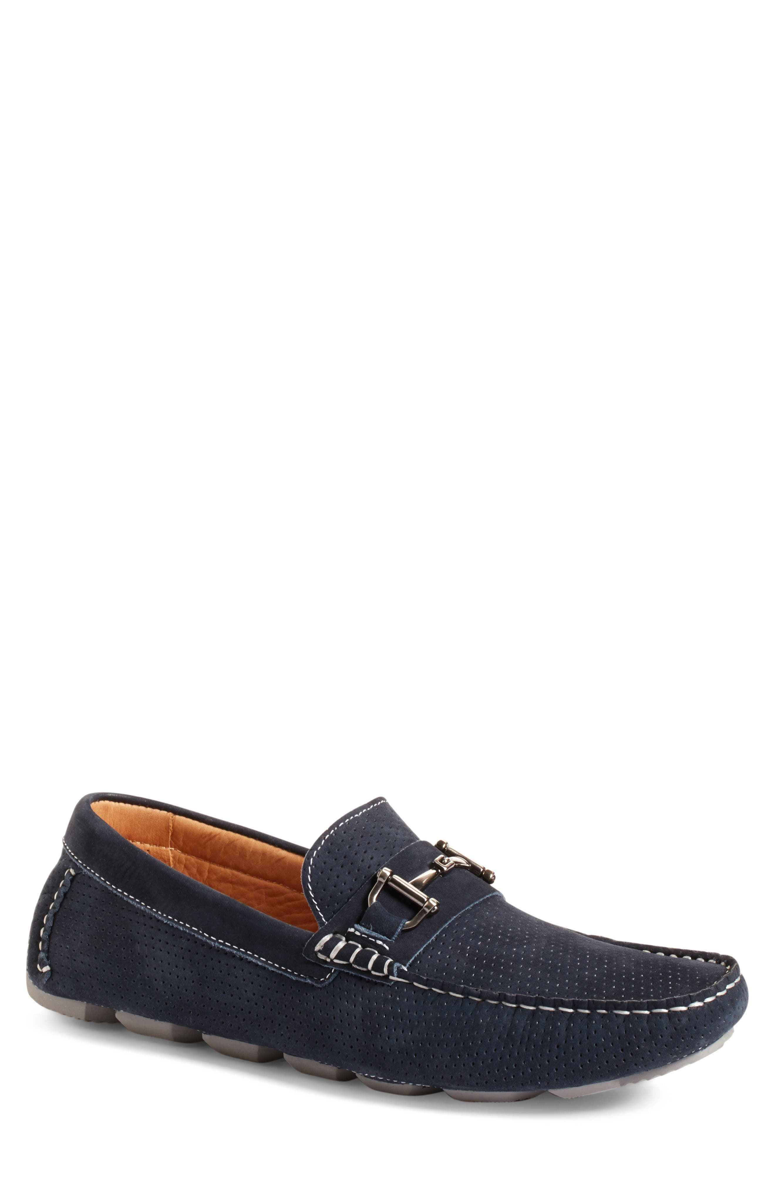 Destin Driving Shoe,                             Main thumbnail 1, color,                             Navy Perf Nubuck