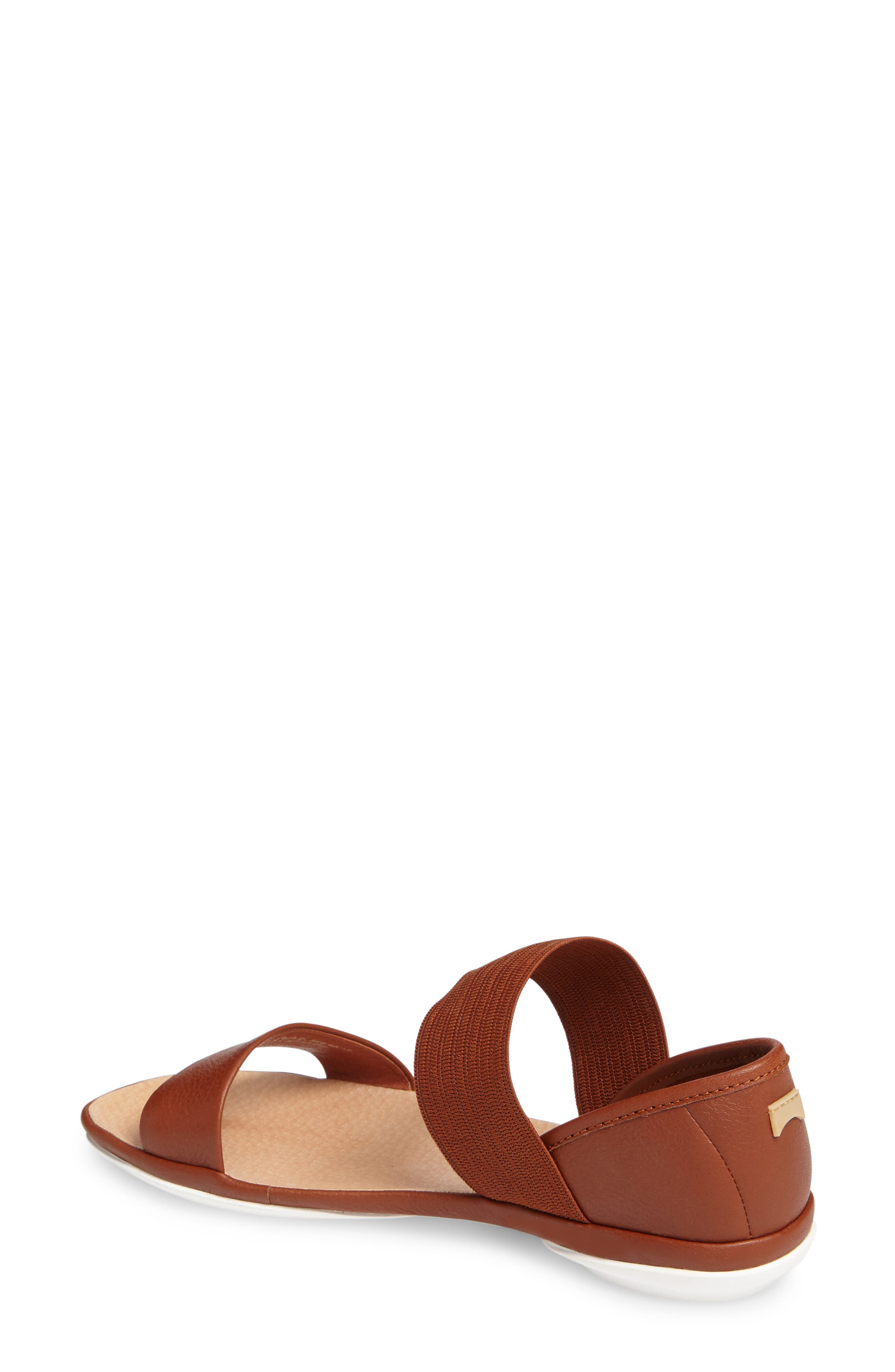 'Right Nina' Sandal,                             Alternate thumbnail 2, color,                             Brown Leather