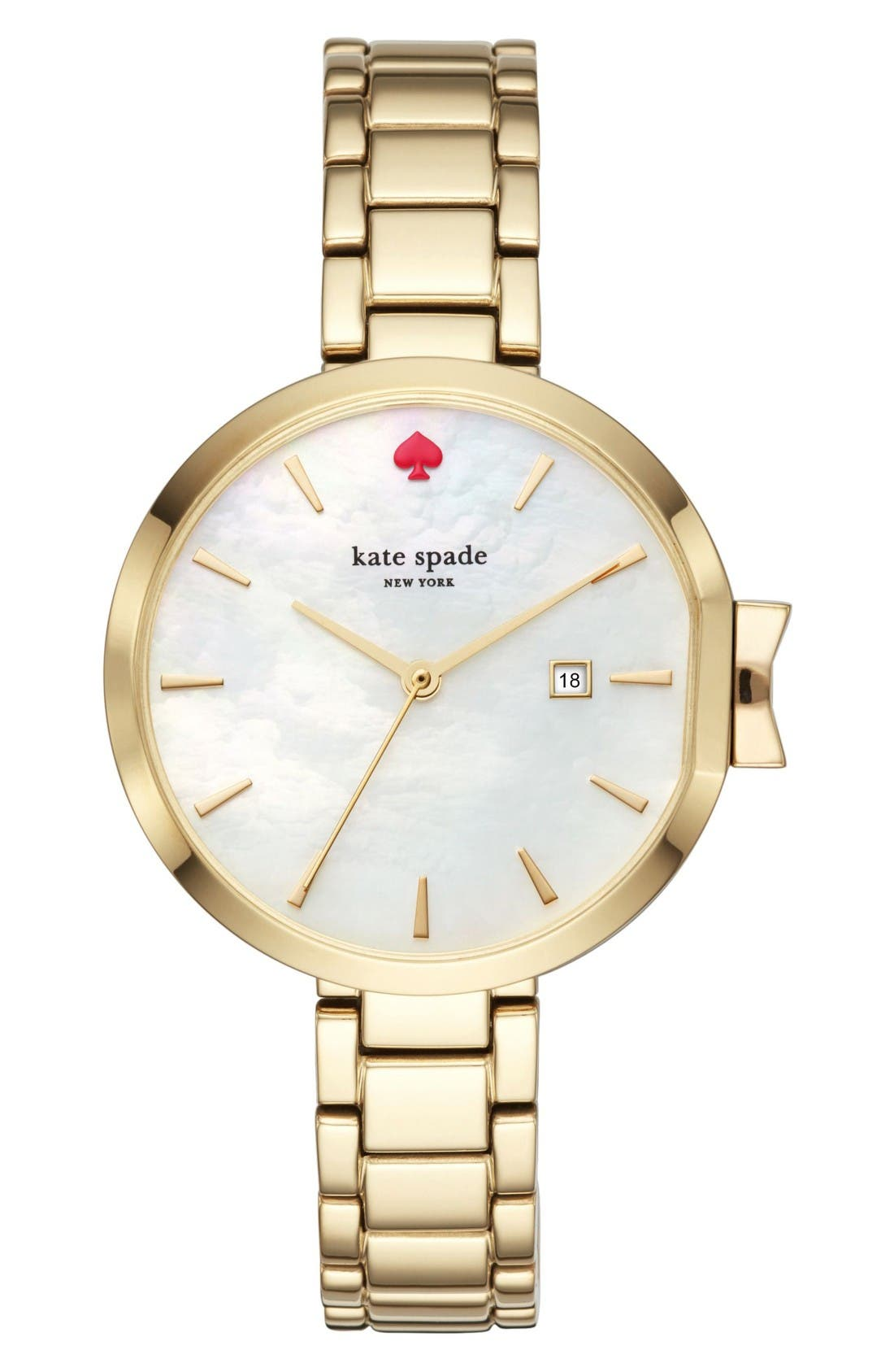 park row bracelet watch, 34mm,                         Main,                         color, Gold/ Mother Of Pearl