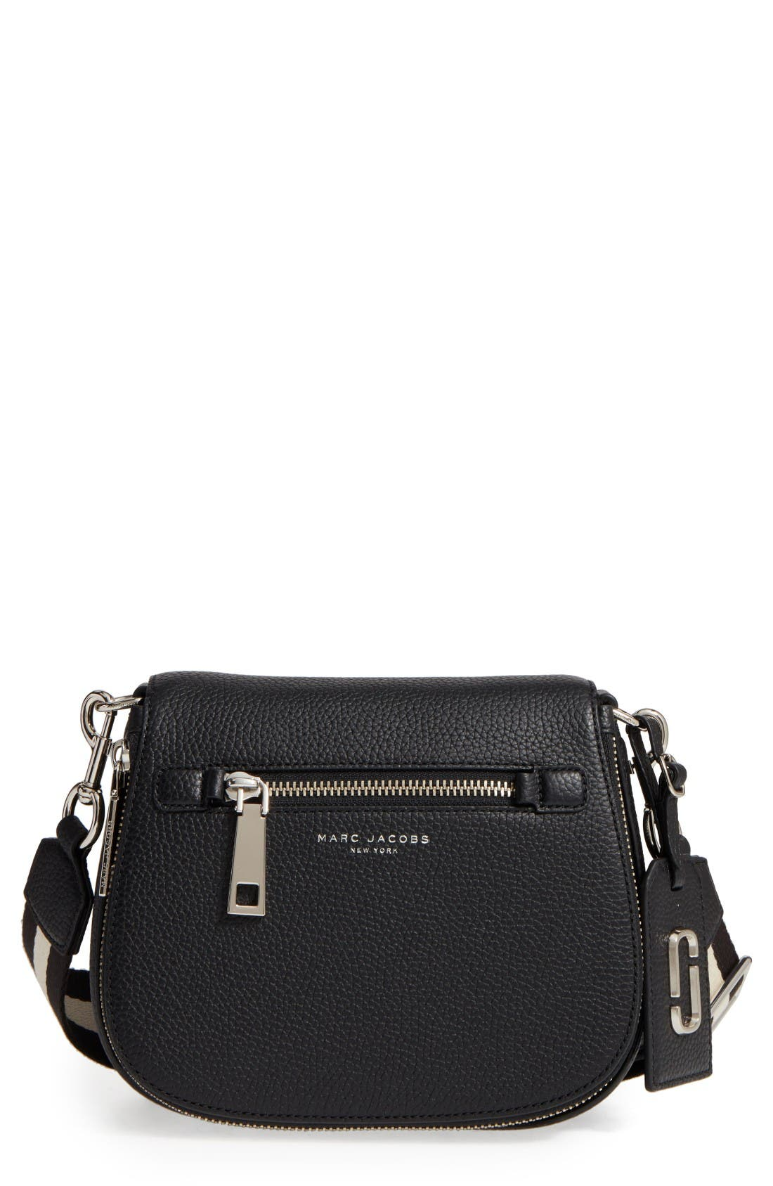 Small Nomad Gotham Leather Crossbody Bag,                             Main thumbnail 1, color,                             Black