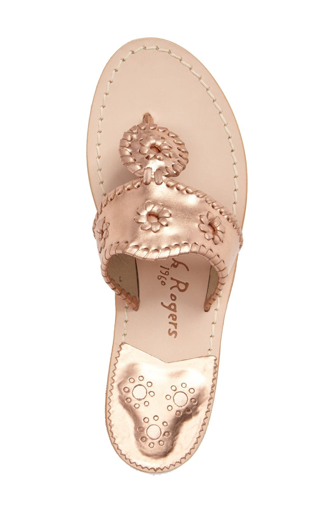 Alternate Image 3  - Jack Rogers Hamptons Metallic Flip Flop (Women)