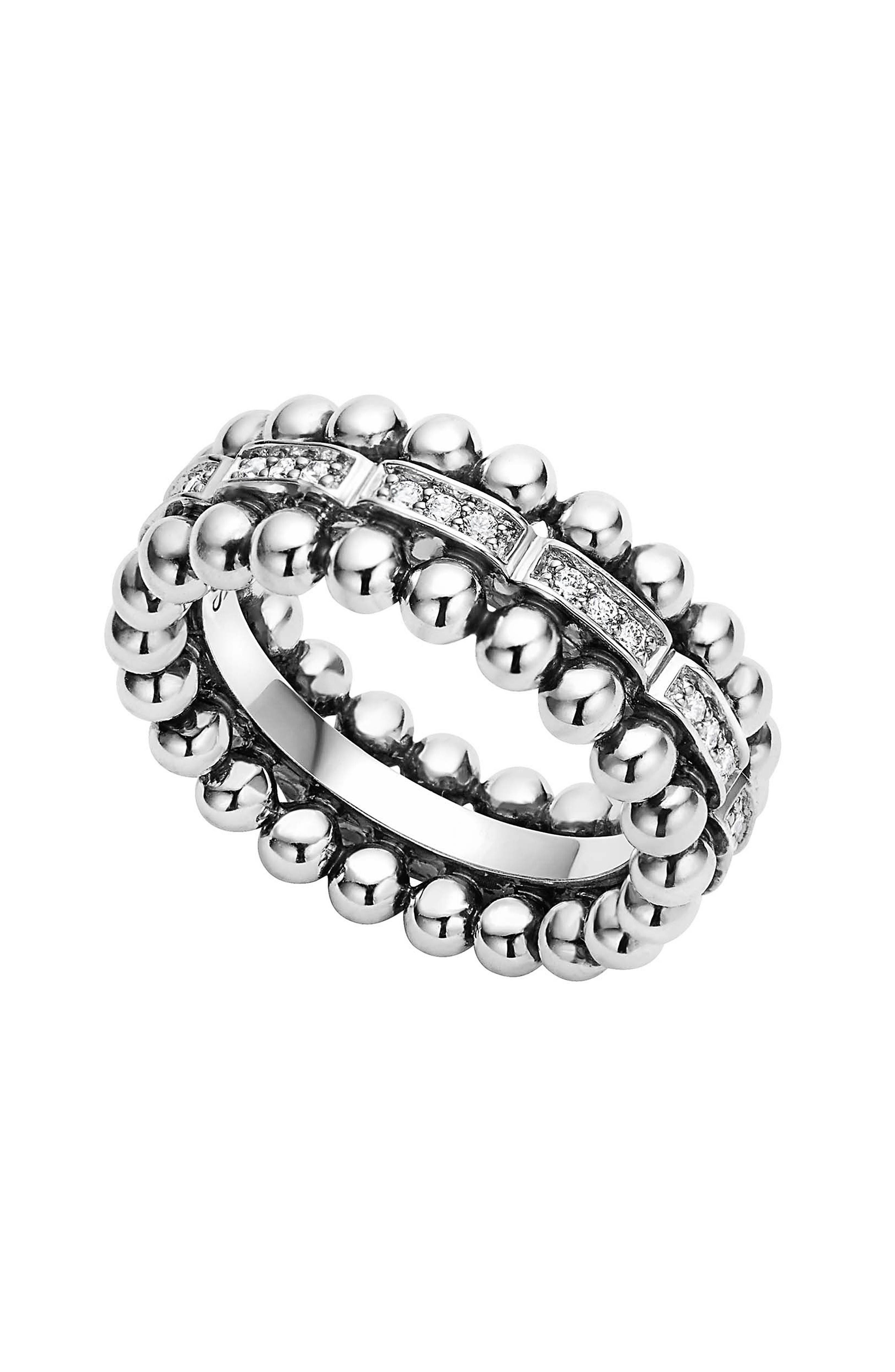 LAGOS Caviar Spark Diamond Band Ring